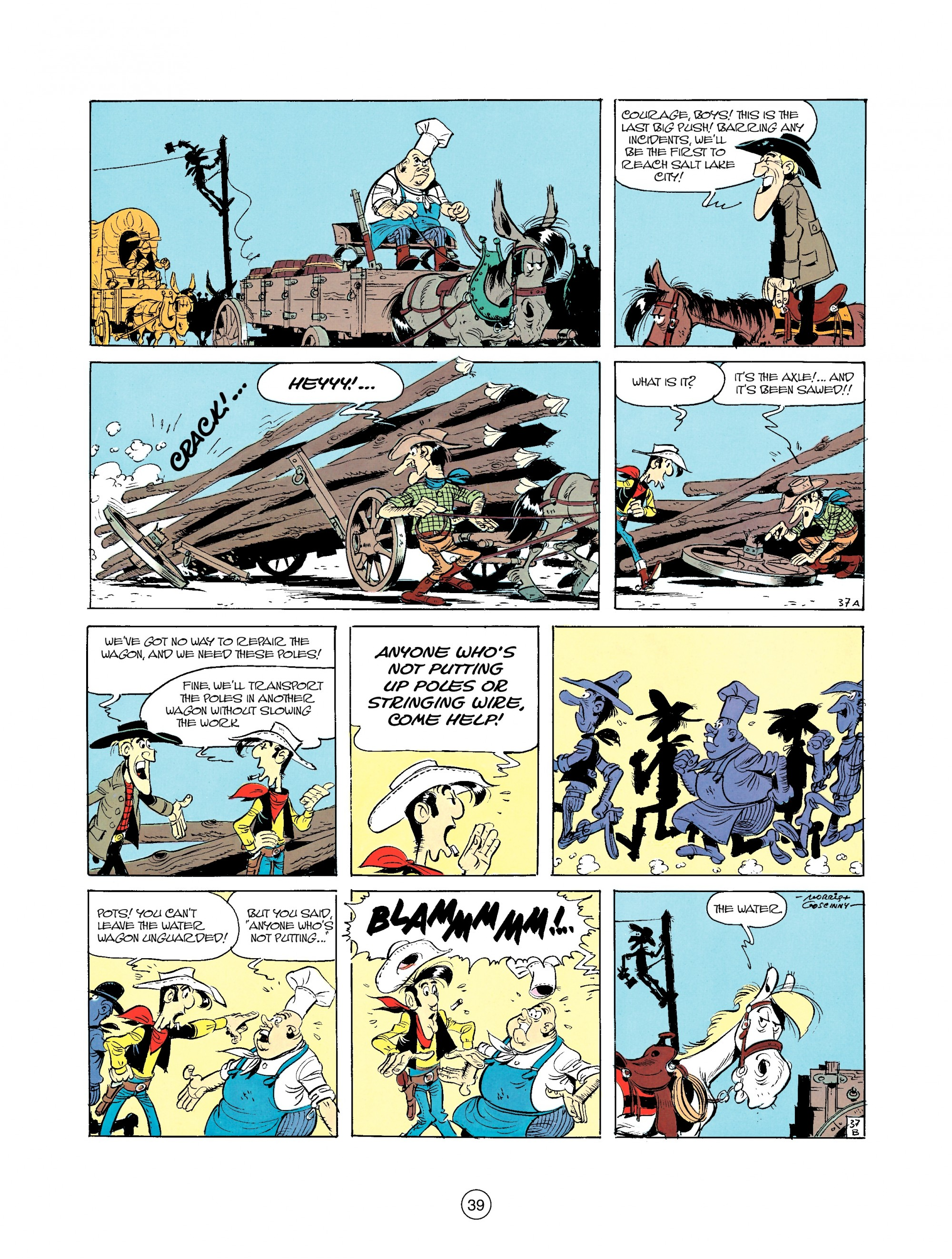 Read online A Lucky Luke Adventure comic -  Issue #35 - 39