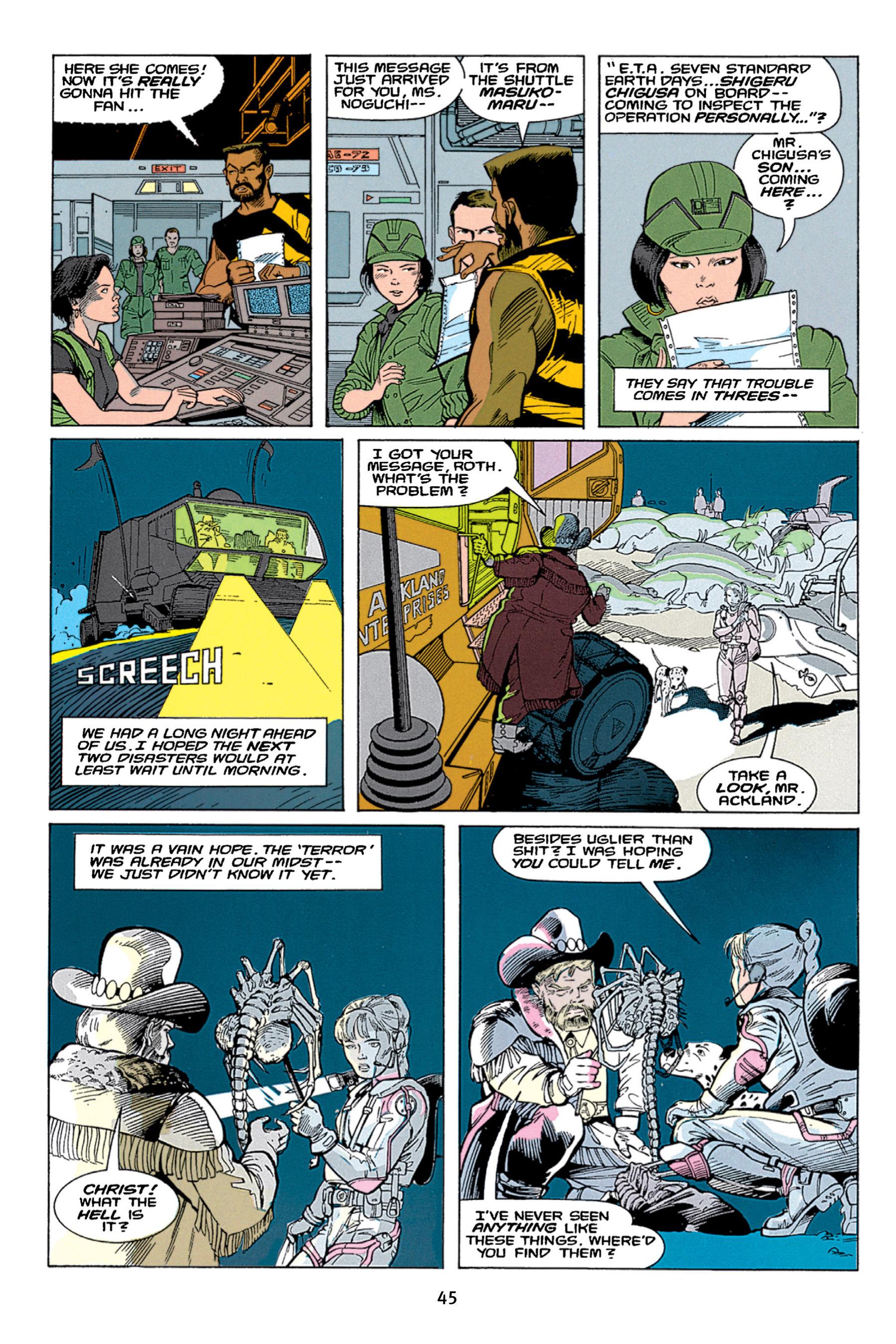 Read online Aliens vs. Predator Omnibus comic -  Issue # _TPB 1 Part 1 - 45