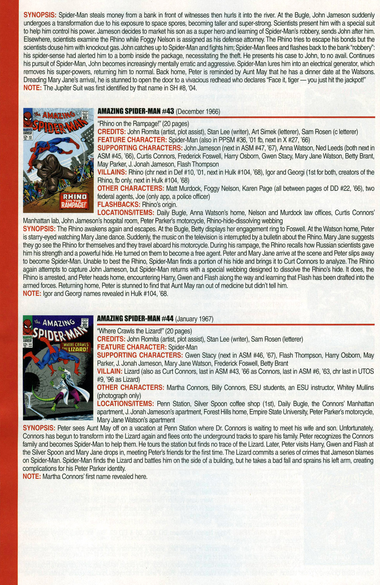 Read online Official Index to the Marvel Universe comic -  Issue #1 - 20