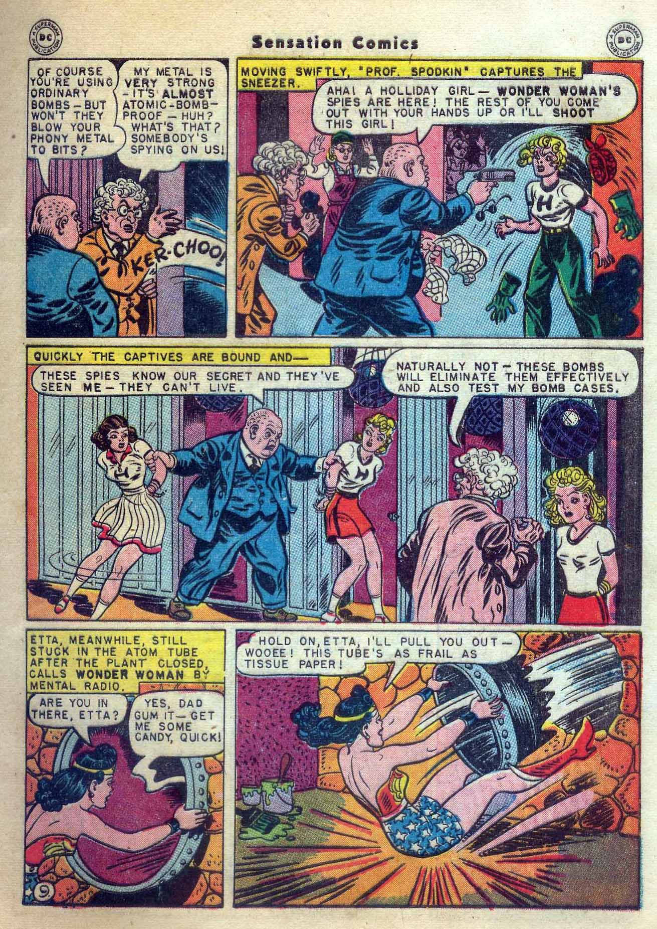 Read online Sensation (Mystery) Comics comic -  Issue #56 - 11