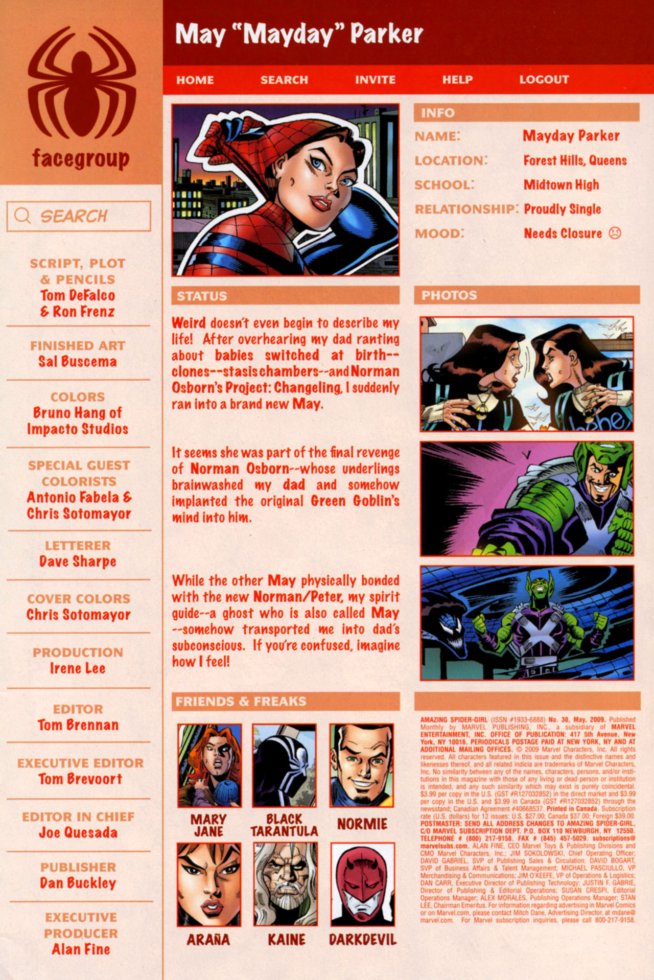 Read online Amazing Spider-Girl comic -  Issue #30 - 4