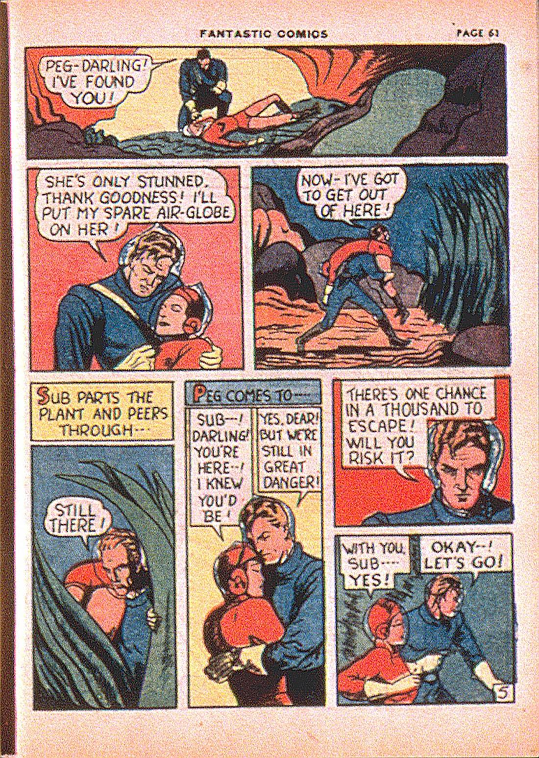Read online Fantastic Comics comic -  Issue #7 - 63