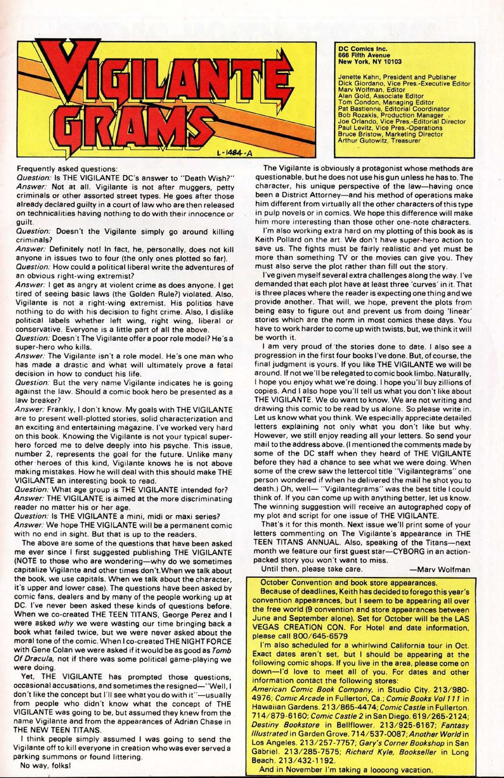 Vigilante (1983) issue 2 - Page 25