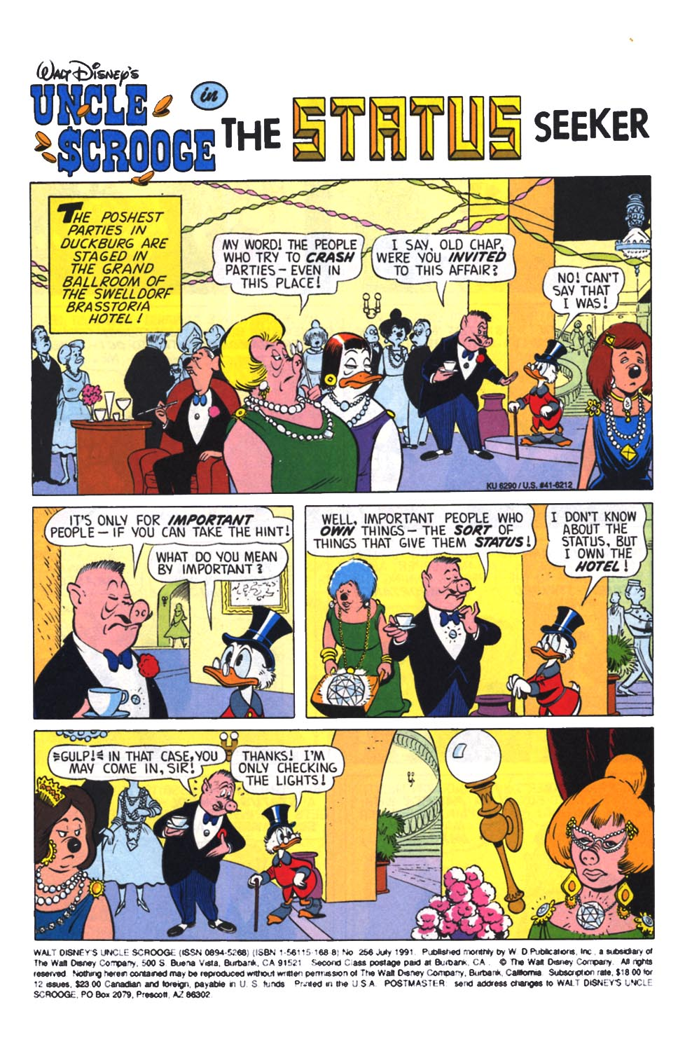 Read online Uncle Scrooge (1953) comic -  Issue #256 - 2