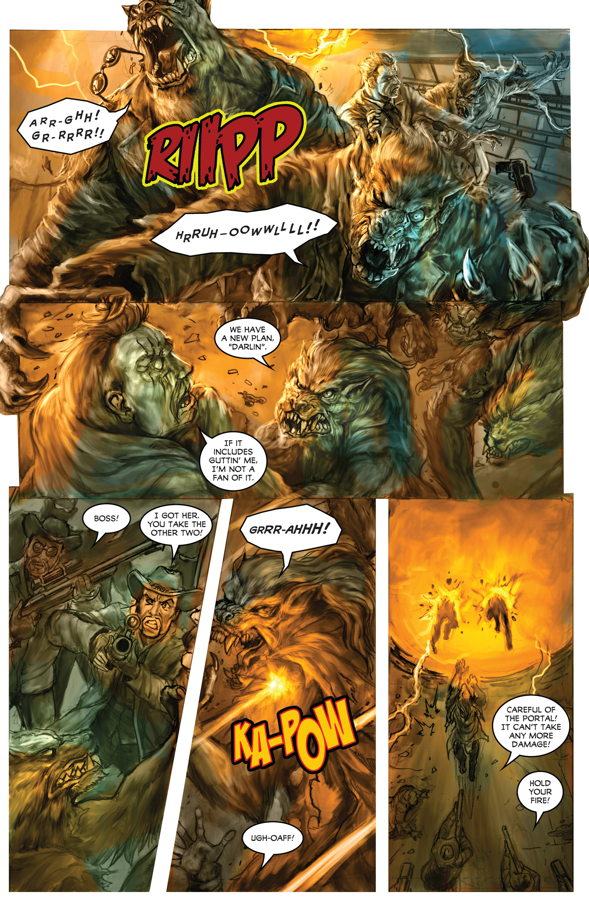 Read online American Mythology Dark: Werewolves vs Dinosaurs comic -  Issue #2 - 8