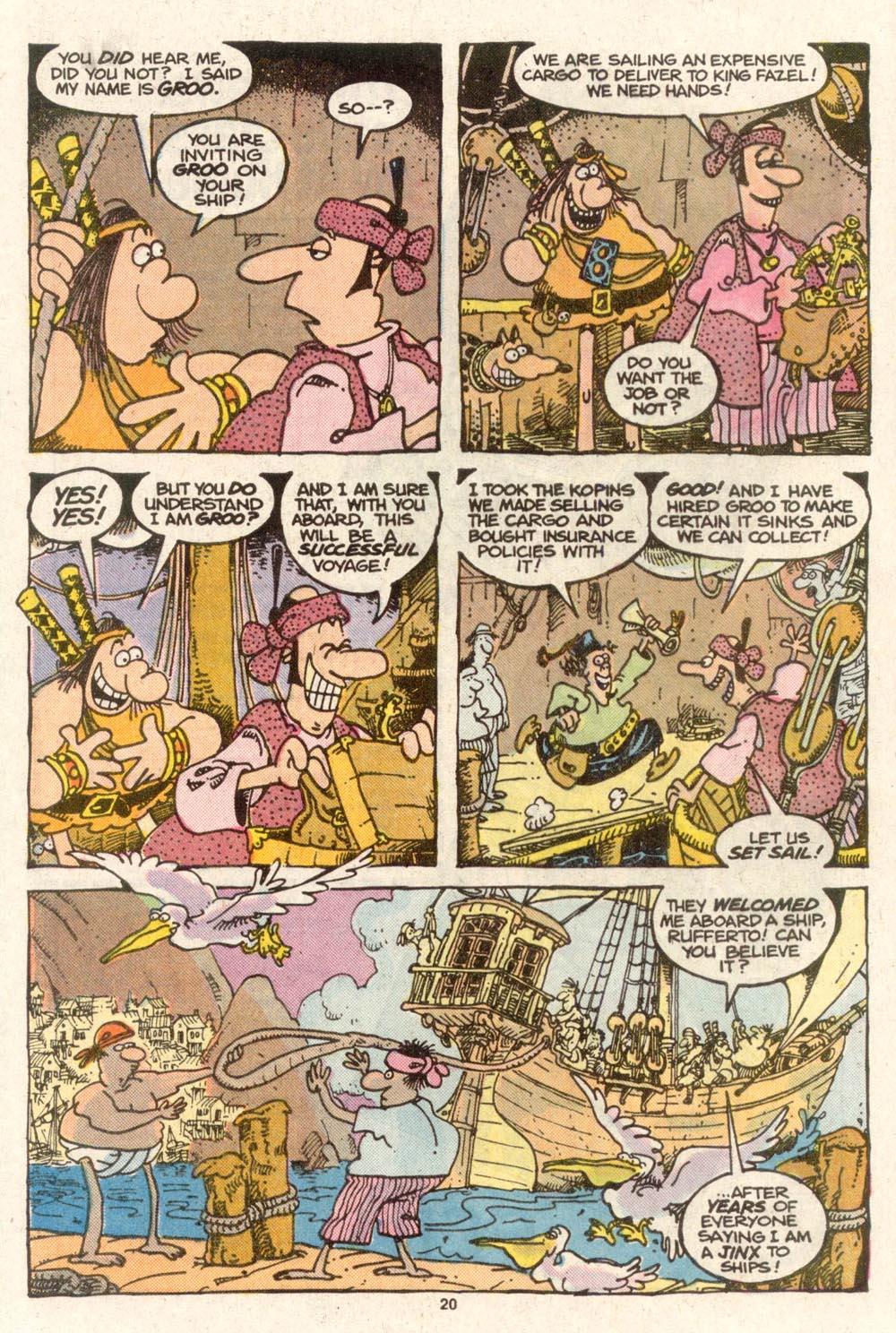 Read online Sergio Aragonés Groo the Wanderer comic -  Issue #48 - 21