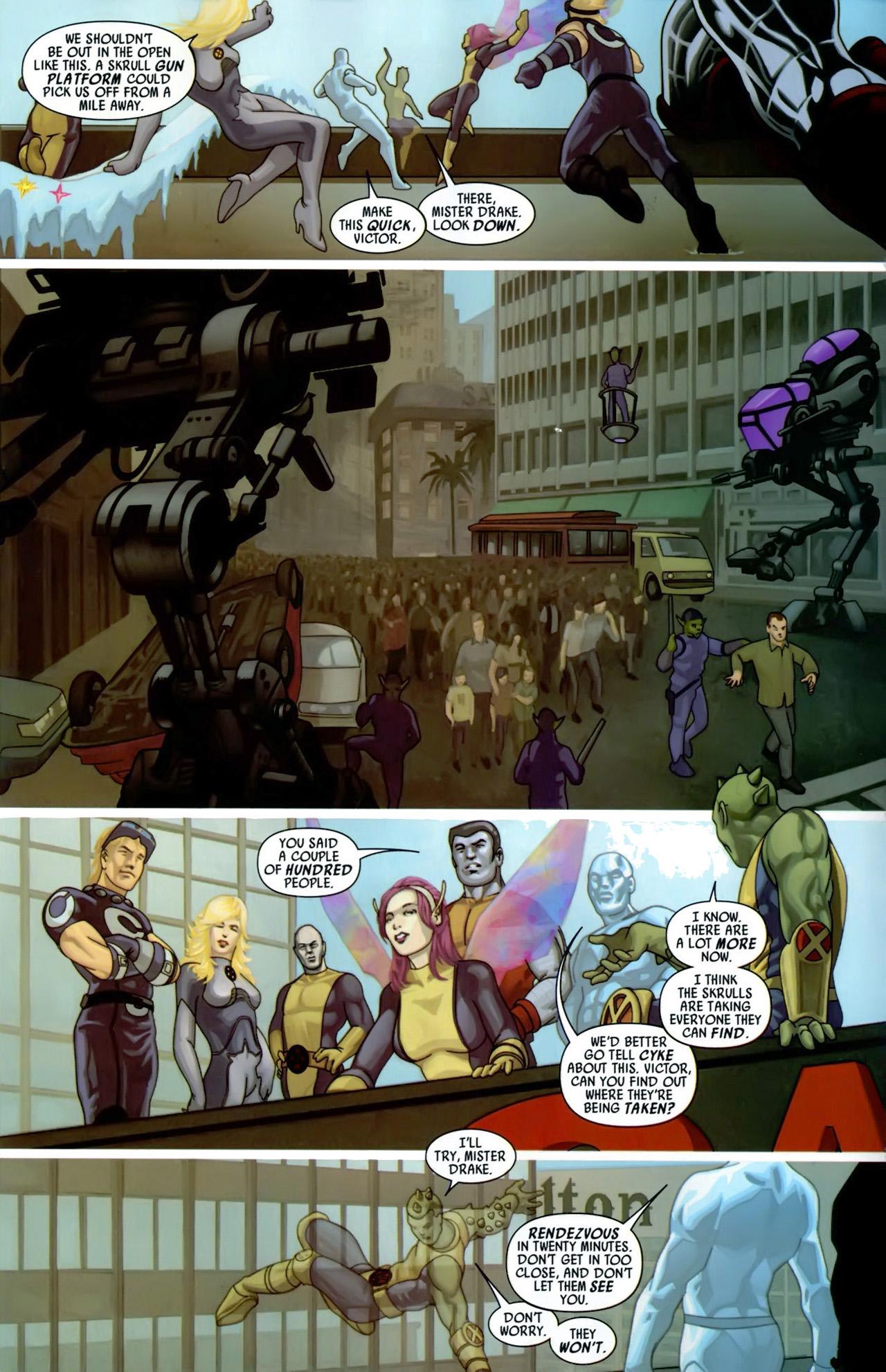 Read online Secret Invasion: X-Men comic -  Issue #3 - 12