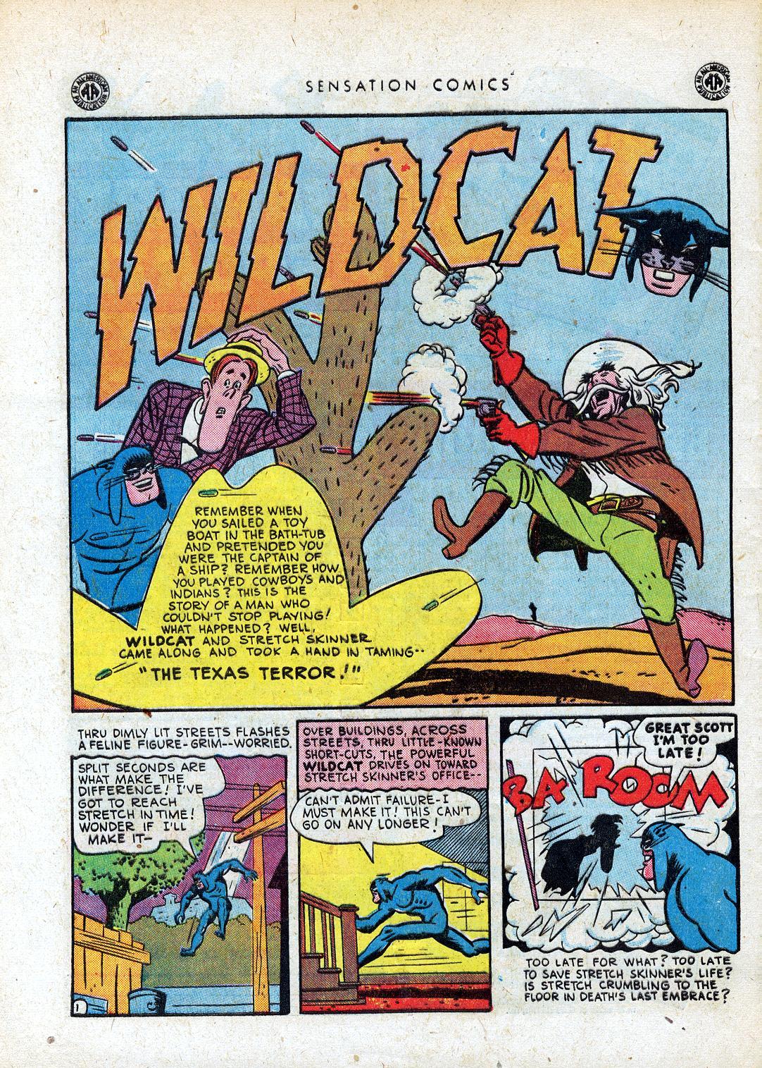 Read online Sensation (Mystery) Comics comic -  Issue #41 - 42