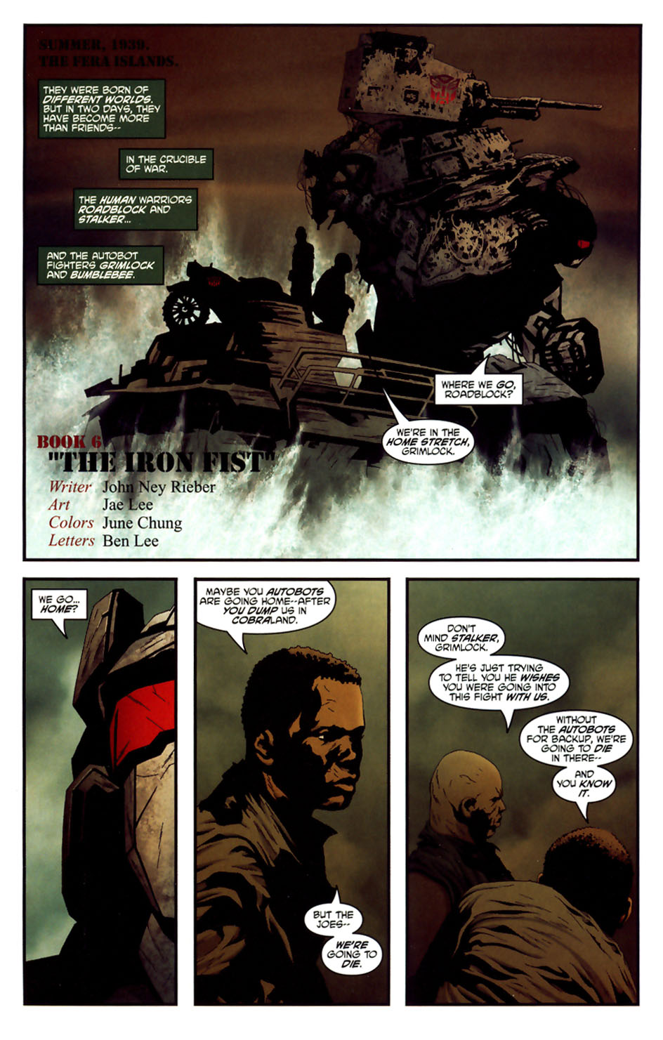 Read online Transformers/G.I. Joe comic -  Issue #6 - 2