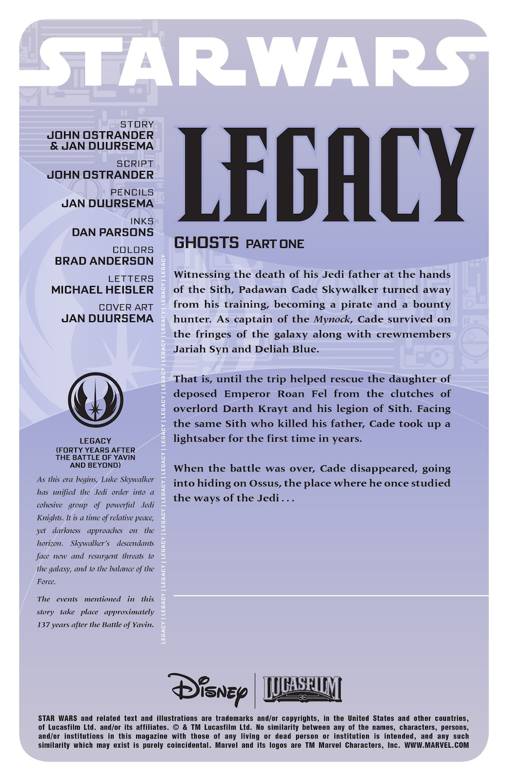 Read online Star Wars Legends: Legacy - Epic Collection comic -  Issue # TPB 1 (Part 3) - 72