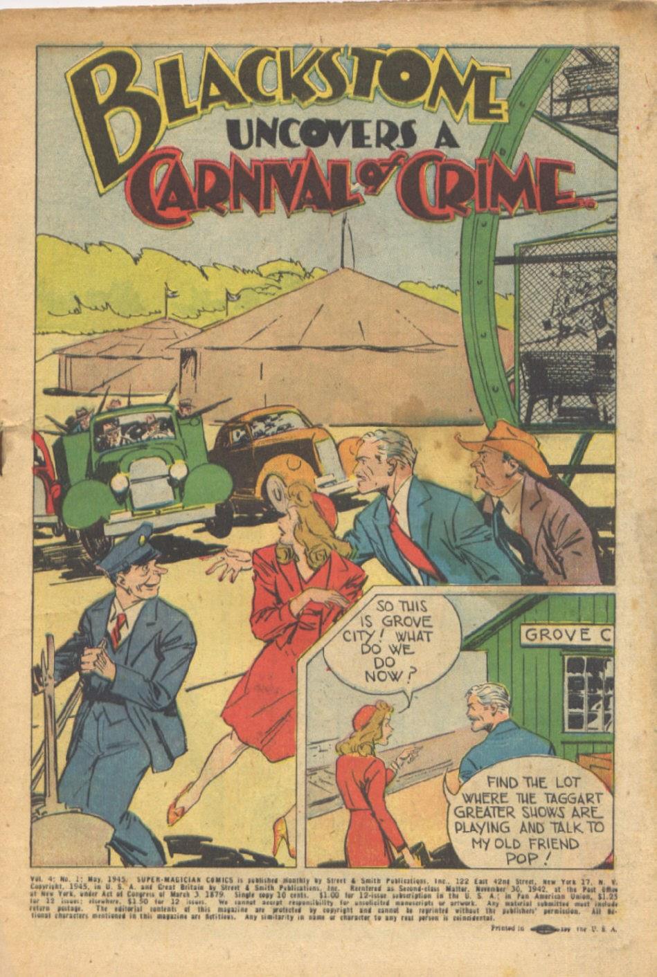 Read online Super-Magician Comics comic -  Issue #37 - 2