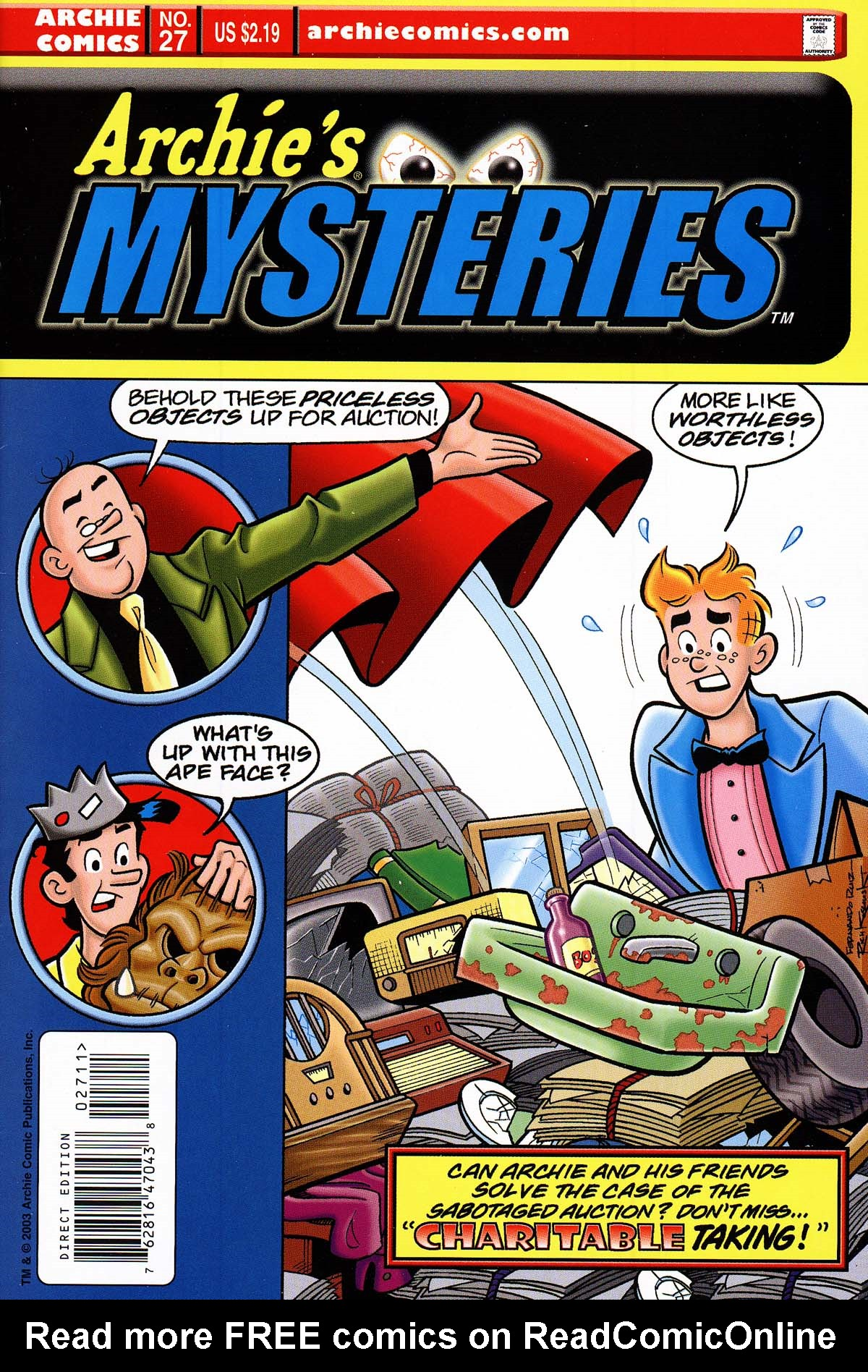Read online Archie's Weird Mysteries comic -  Issue #27 - 1