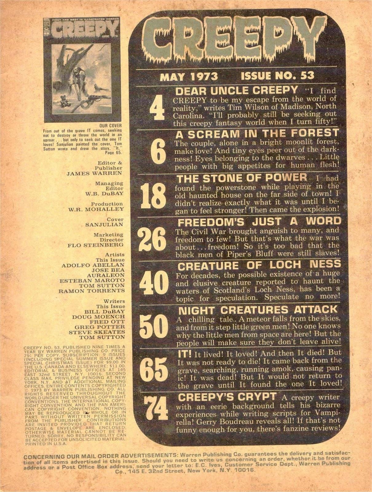 Creepy (1964) Issue #53 #53 - English 2