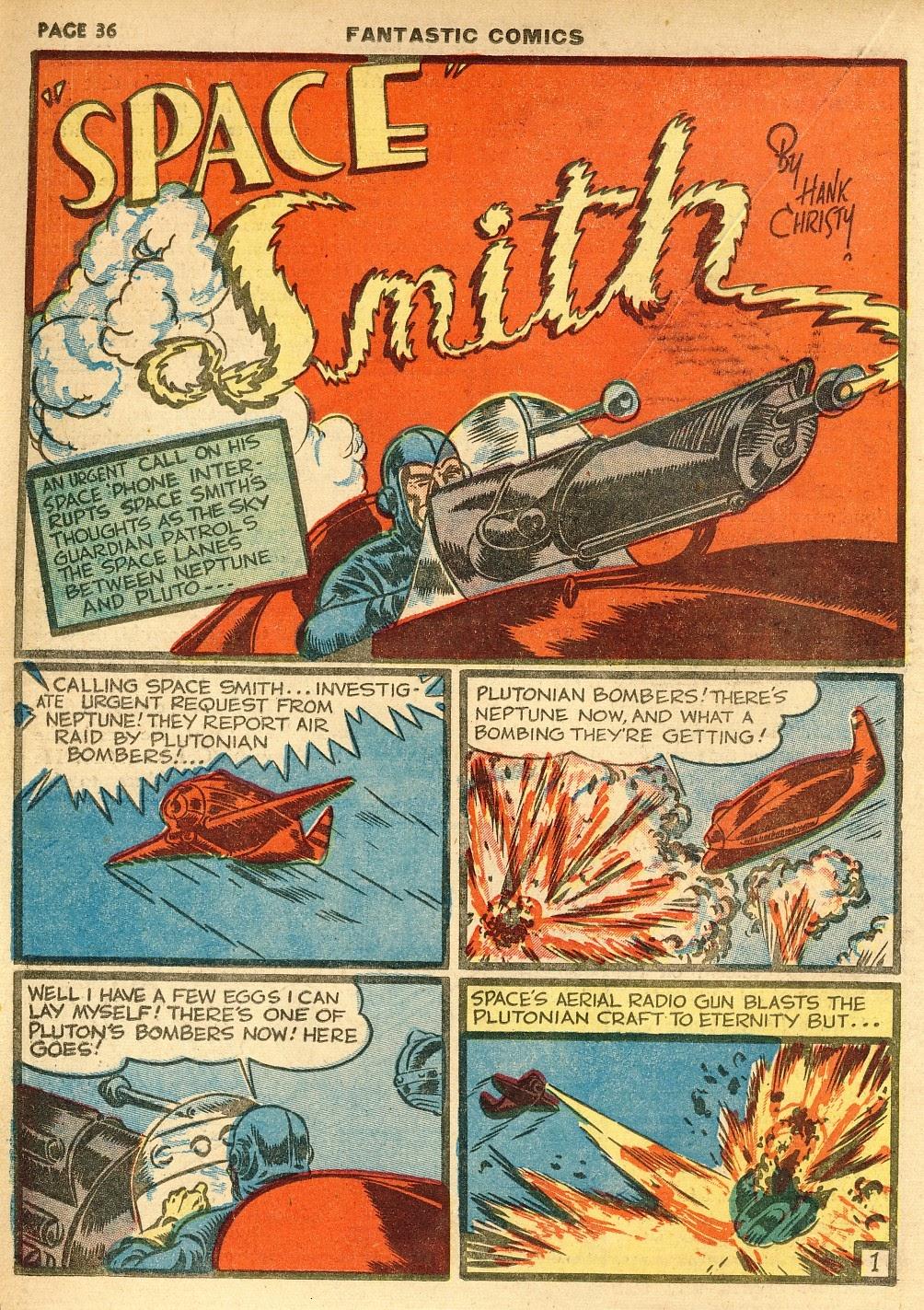 Read online Fantastic Comics comic -  Issue #10 - 37