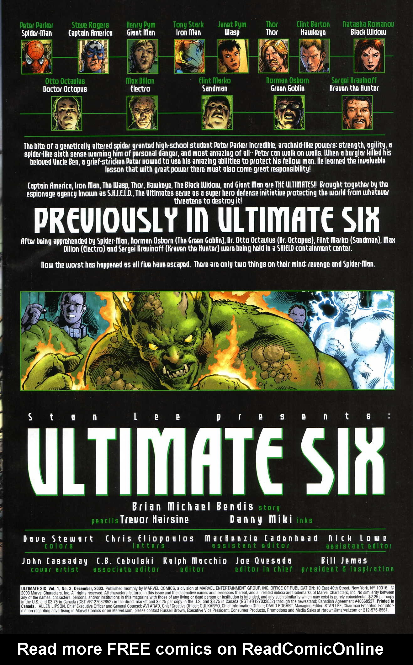 Read online Ultimate Six comic -  Issue #3 - 6
