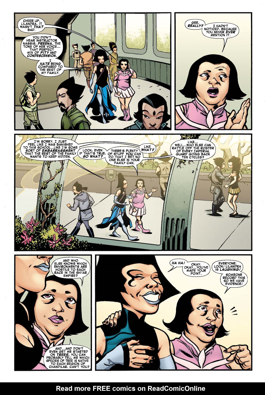 Read online War of Kings: Warriors - Lilandra comic -  Issue #1 - 8