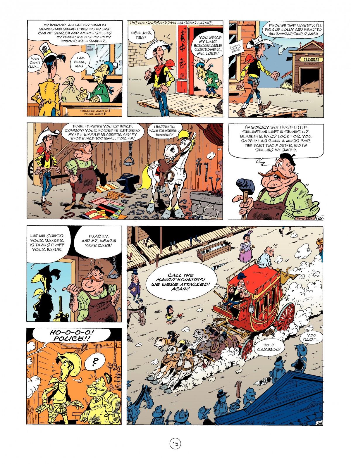 Read online A Lucky Luke Adventure comic -  Issue #52 - 17
