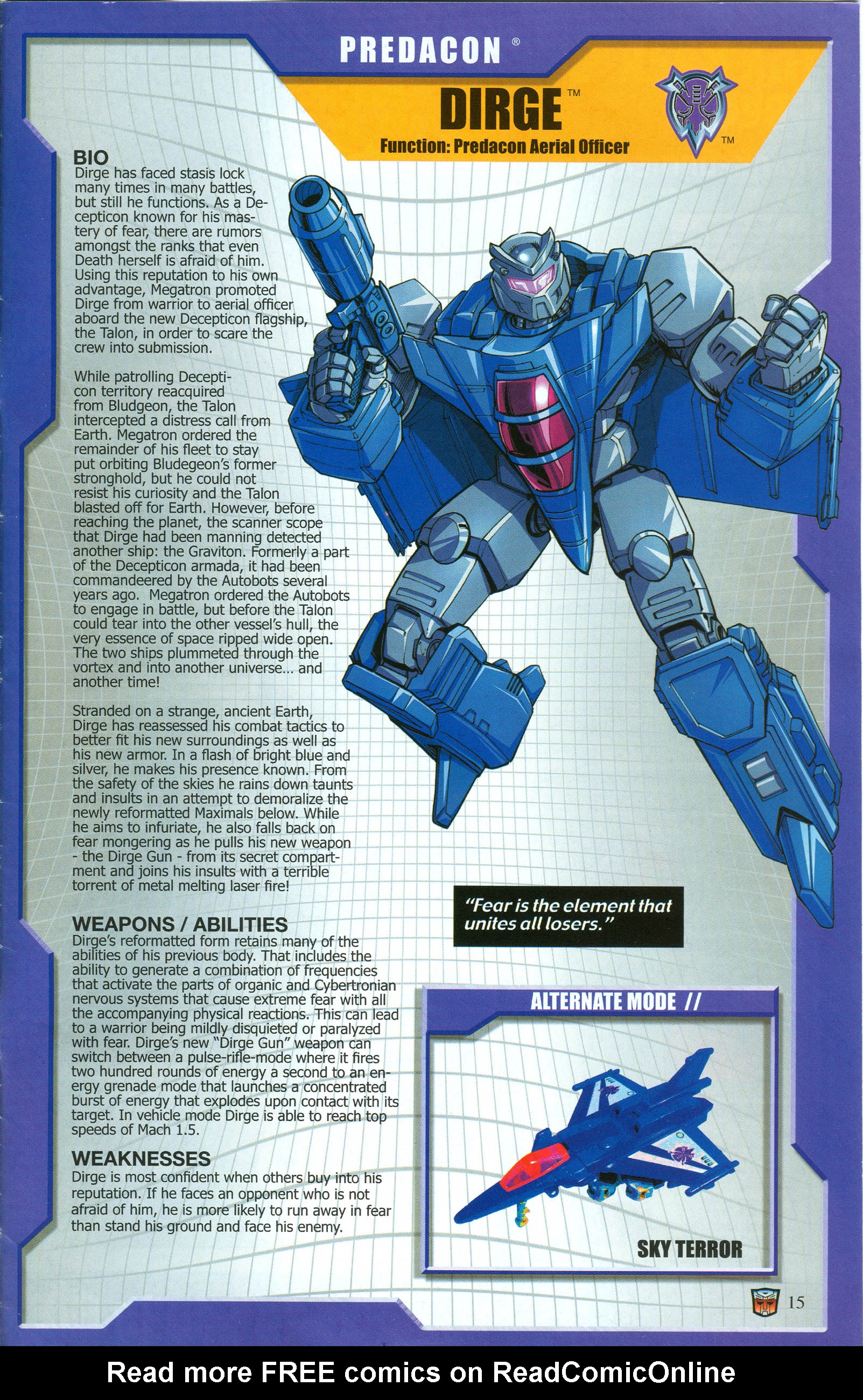 Read online Transformers: Collectors' Club comic -  Issue #50 - 15