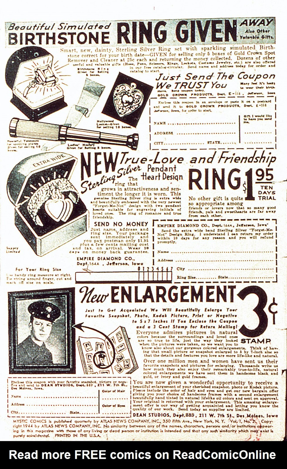 Read online Mystic Comics (1944) comic -  Issue #2 - 2