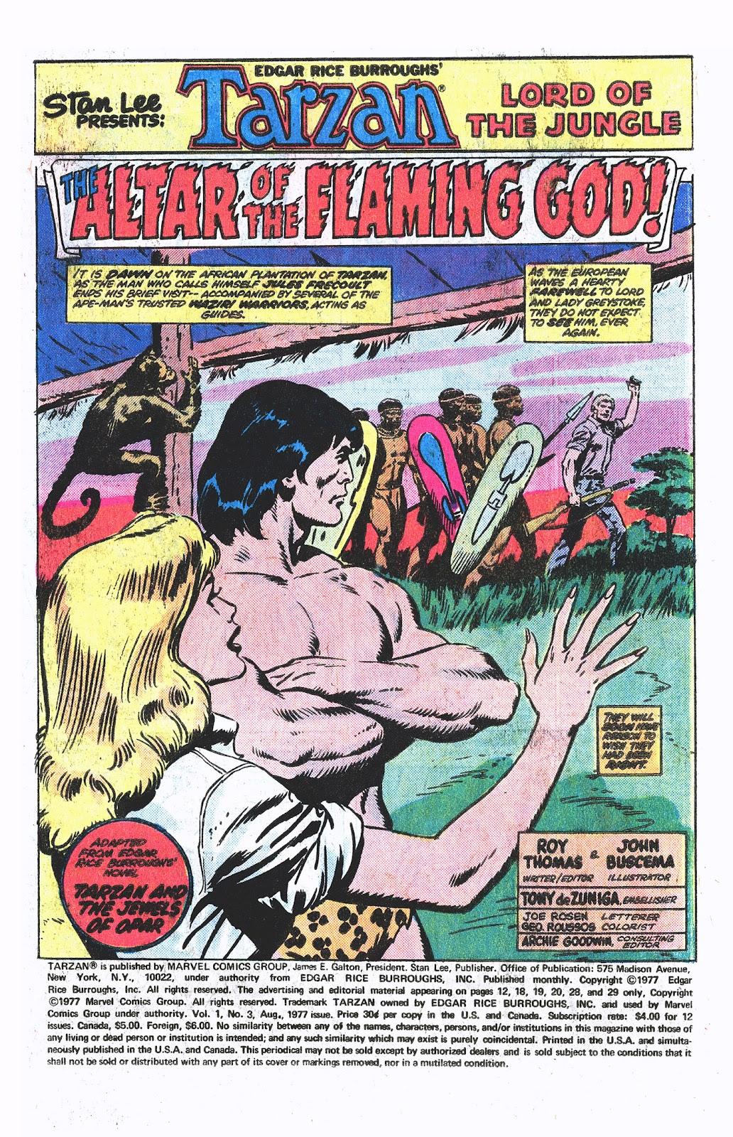 Tarzan (1977) issue 3 - Page 2