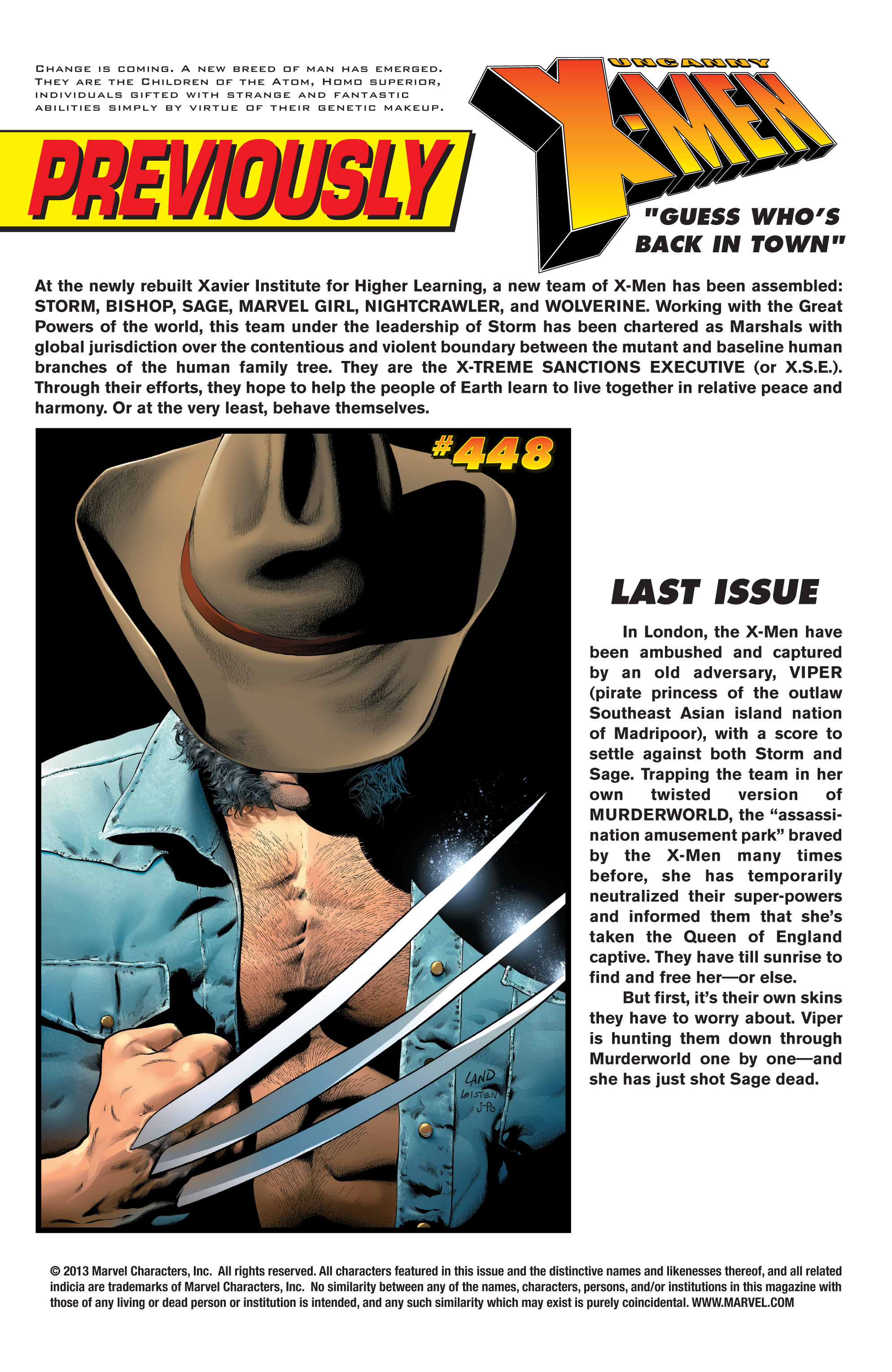 Read online Uncanny X-Men (1963) comic -  Issue #449 - 2
