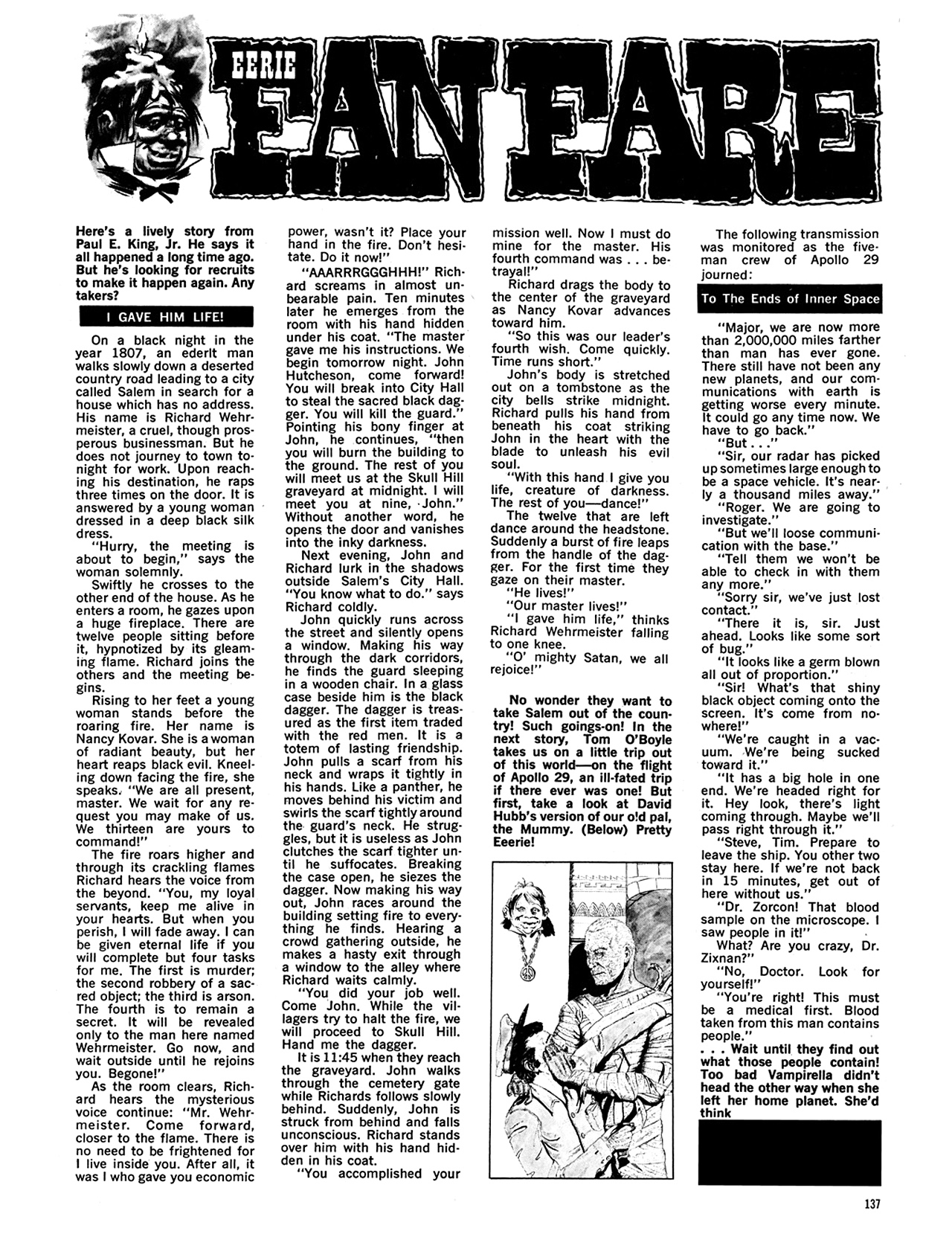 Read online Eerie Archives comic -  Issue # TPB 5 - 138