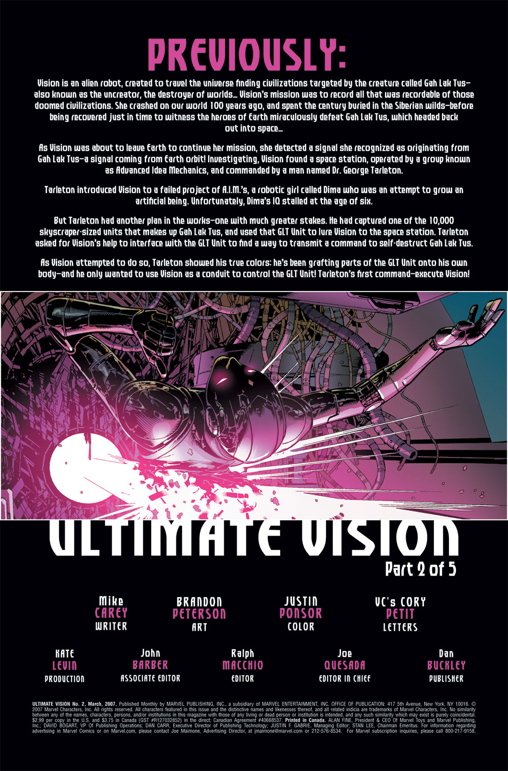 Read online Ultimate Vision comic -  Issue #2 - 3