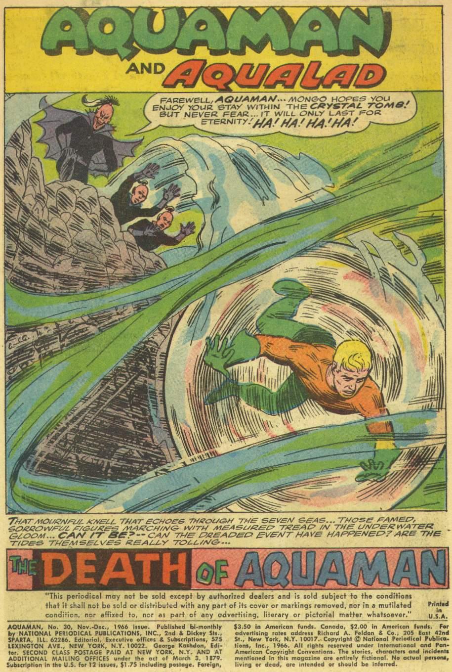 Read online Aquaman (1962) comic -  Issue #30 - 3