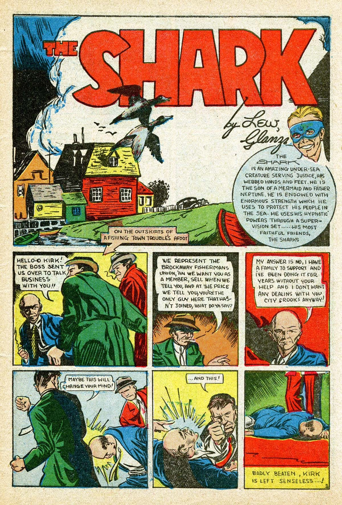 Read online Amazing Man Comics comic -  Issue #8 - 59