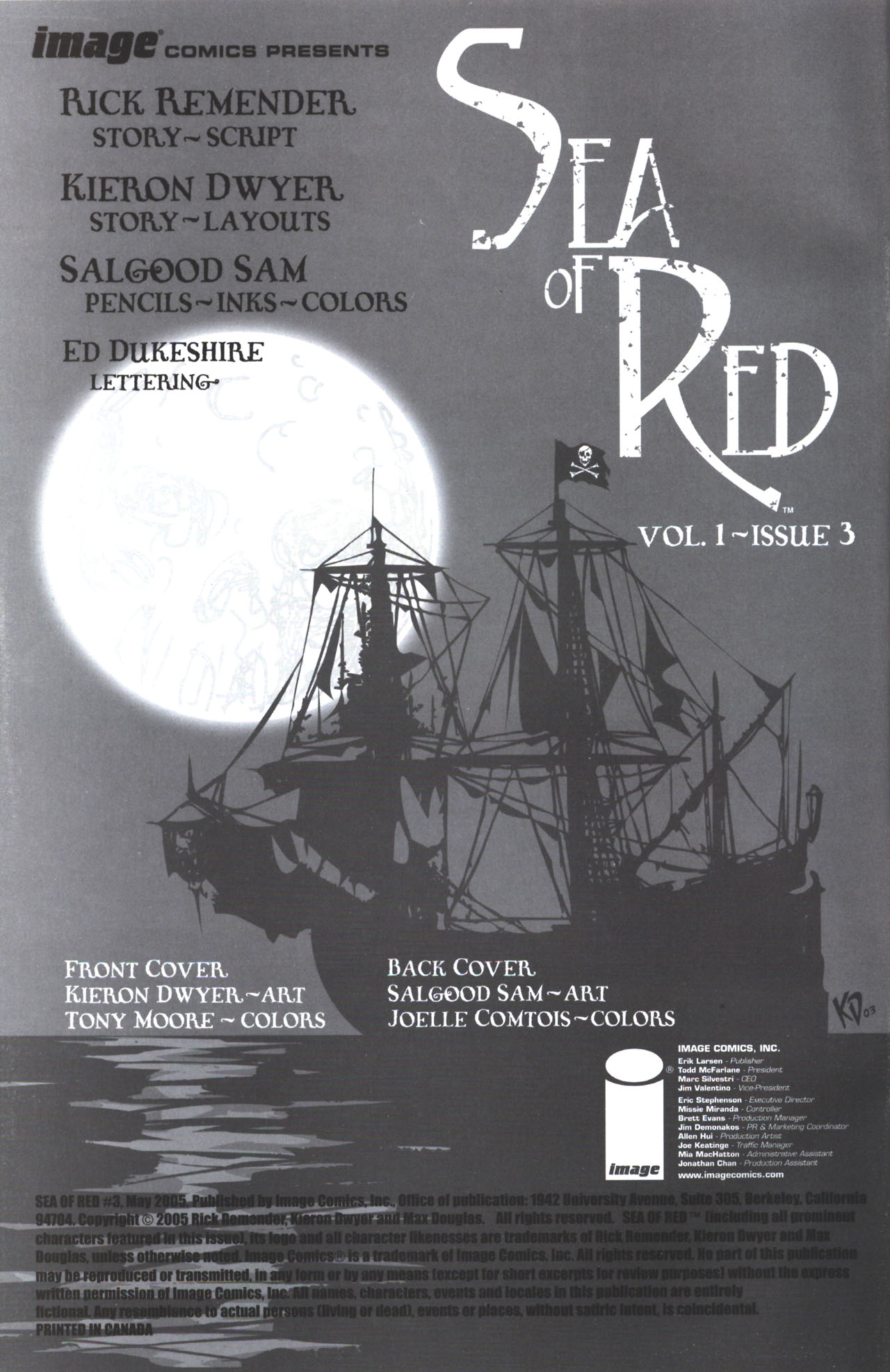 Read online Sea of Red comic -  Issue #3 - 2