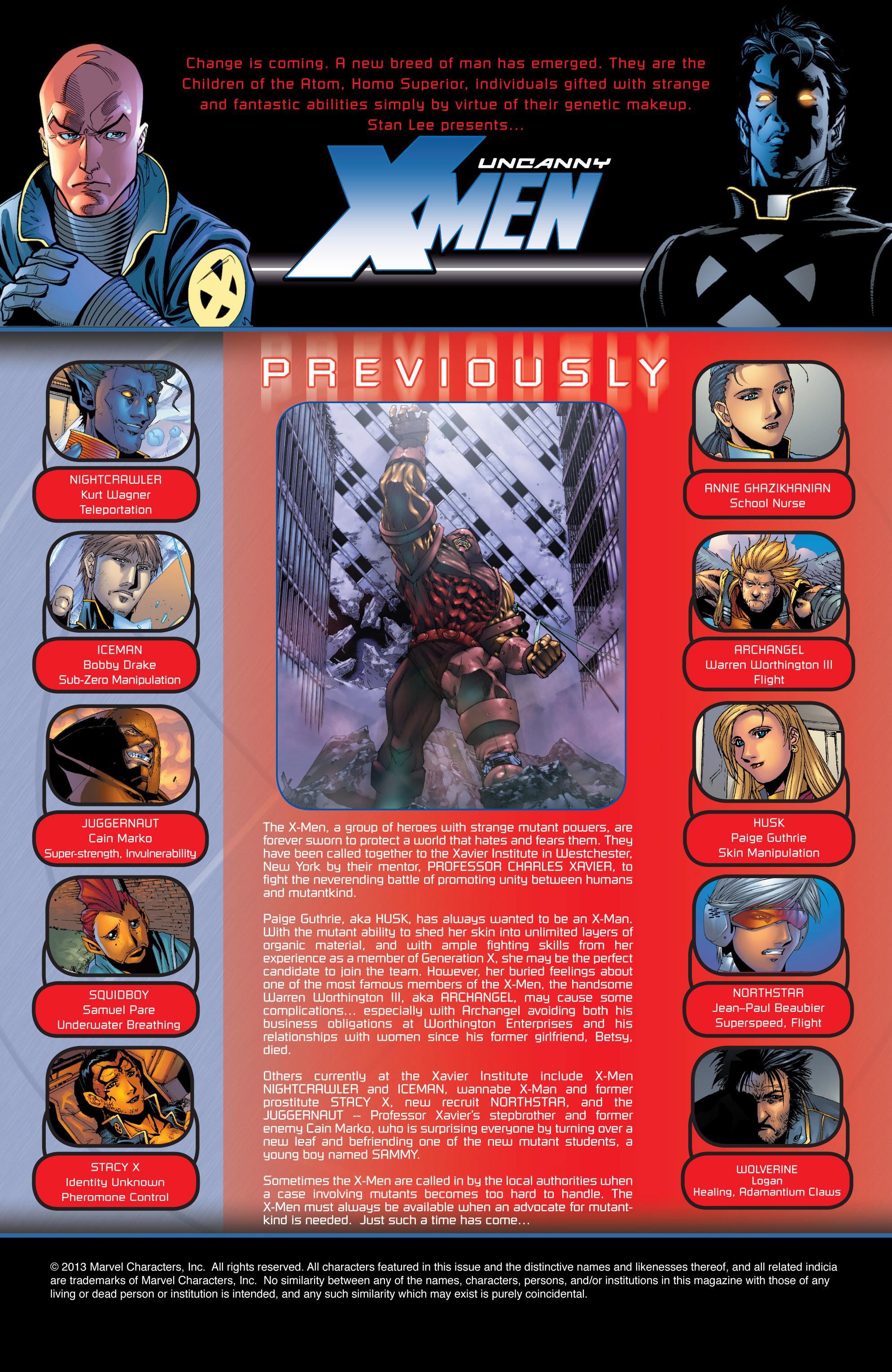 Read online Uncanny X-Men (1963) comic -  Issue #417 - 2