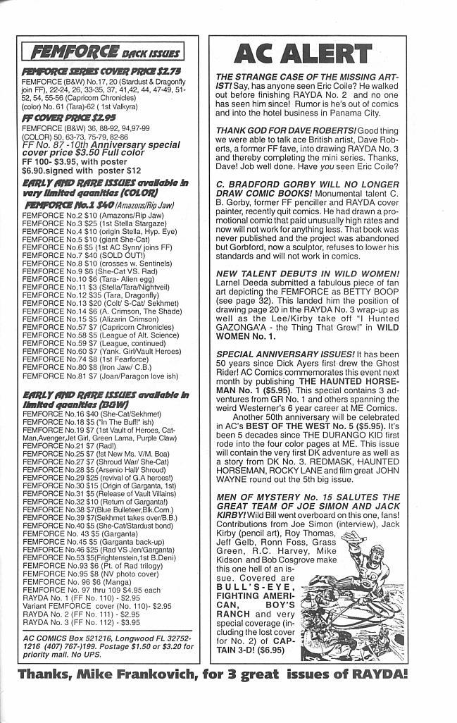 Femforce Issue #112 #112 - English 33