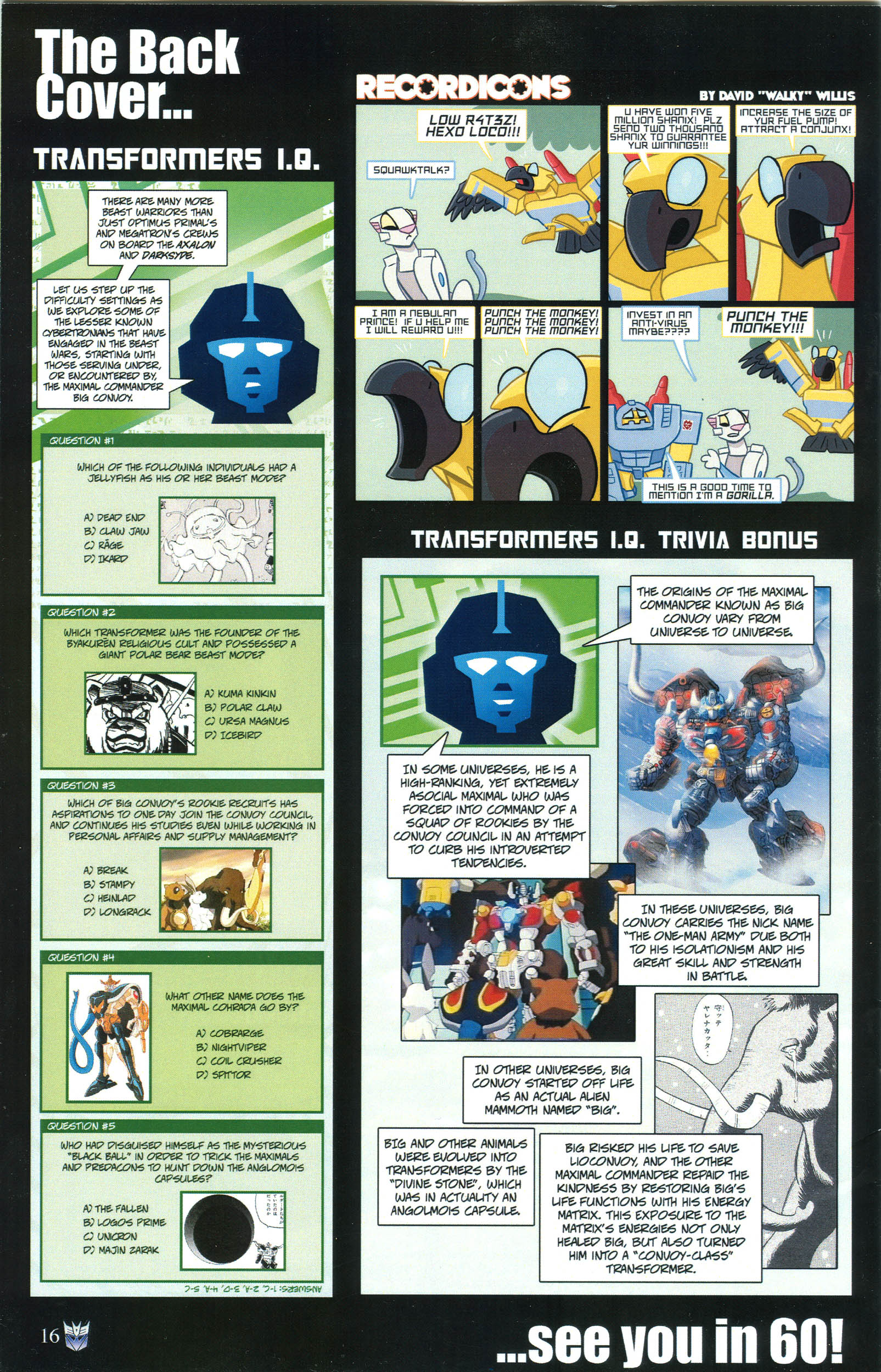 Read online Transformers: Collectors' Club comic -  Issue #52 - 16