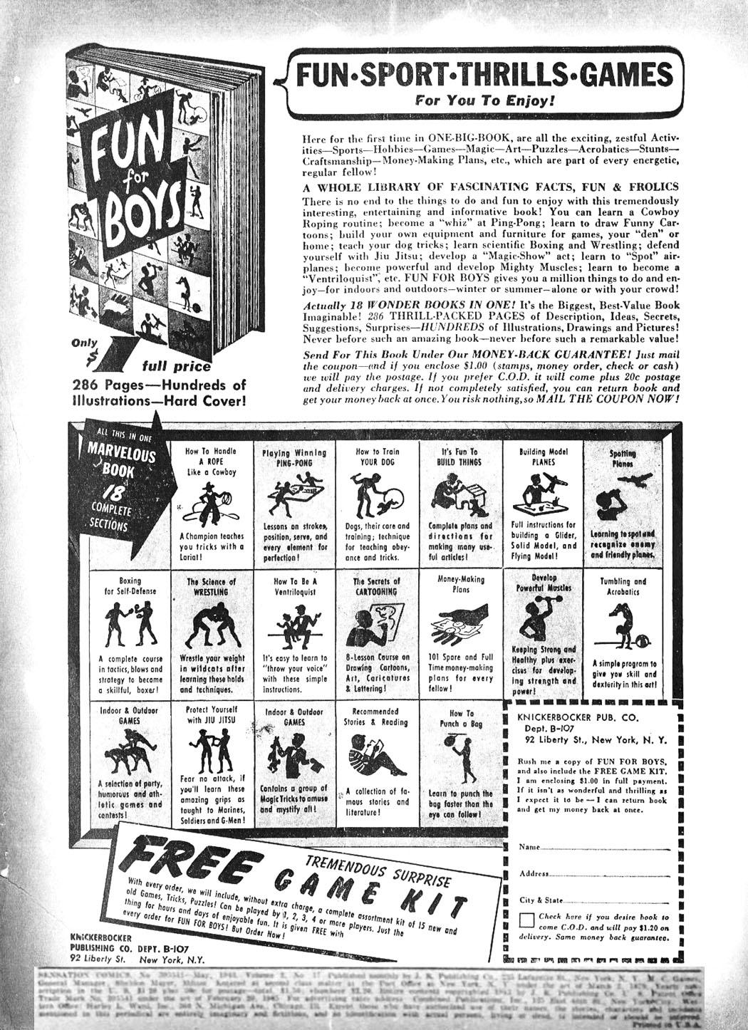 Read online Sensation (Mystery) Comics comic -  Issue #17 - 2