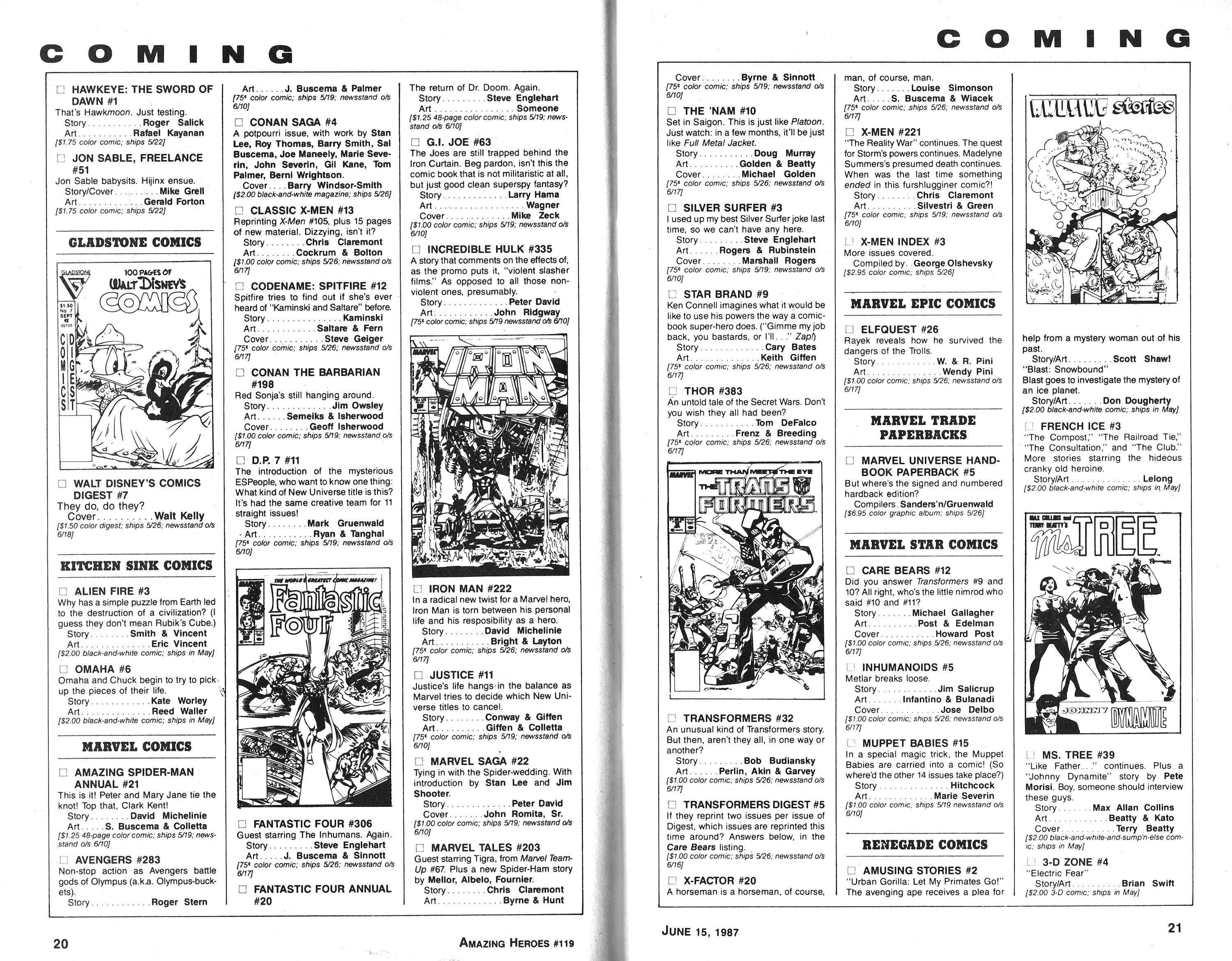 Read online Amazing Heroes comic -  Issue #119 - 11