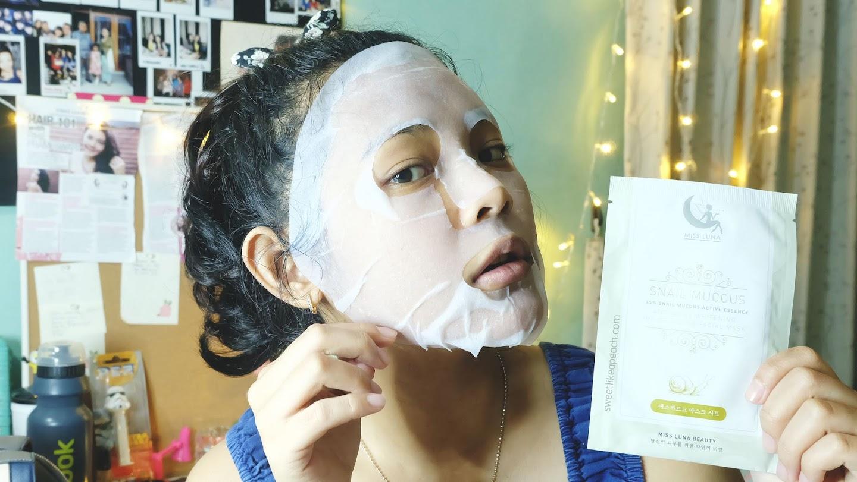 Miss Luna Beauty Snail Mucous Facial Mask