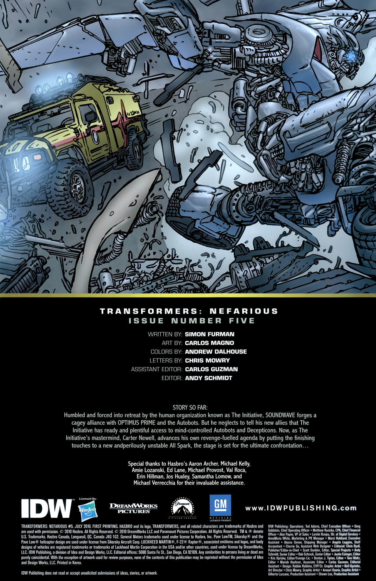 Read online Transformers: Nefarious comic -  Issue #5 - 3