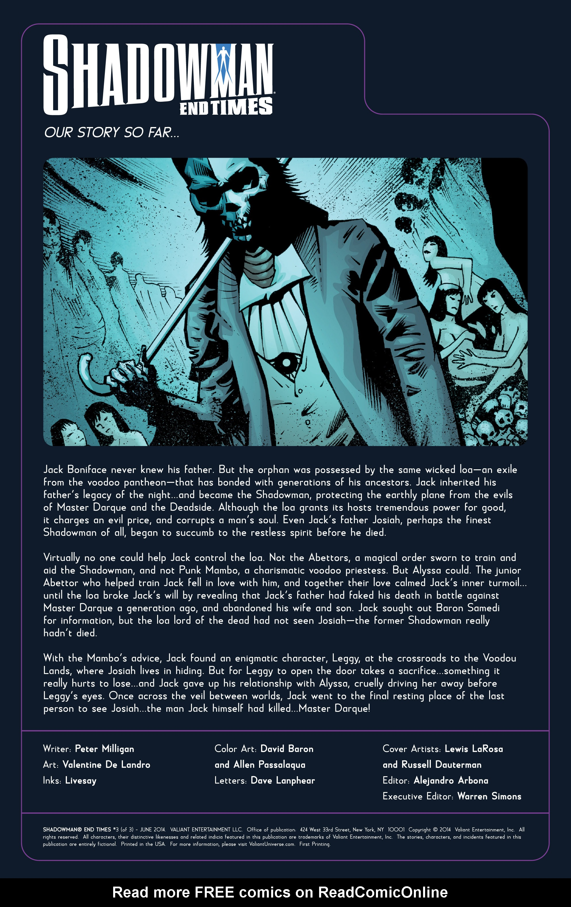 Read online Shadowman: End Times comic -  Issue #3 - 2