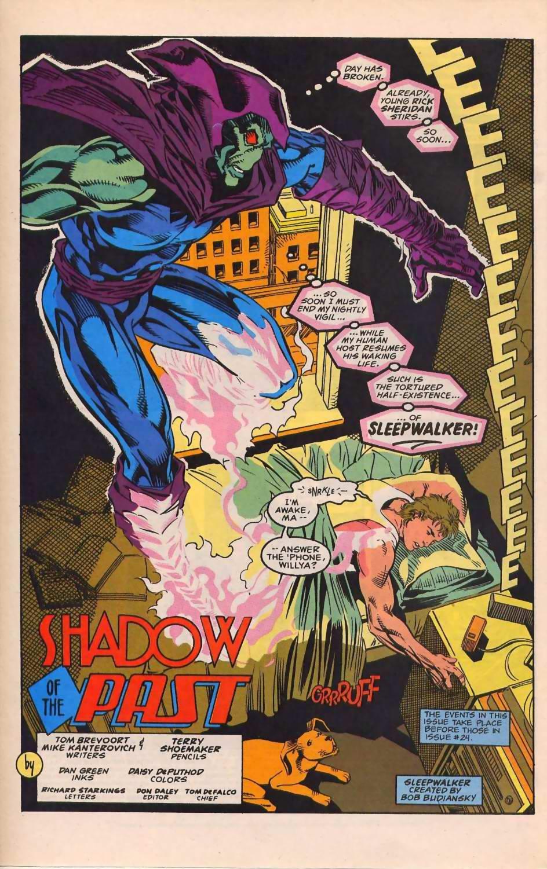 Read online Sleepwalker comic -  Issue #30 - 3
