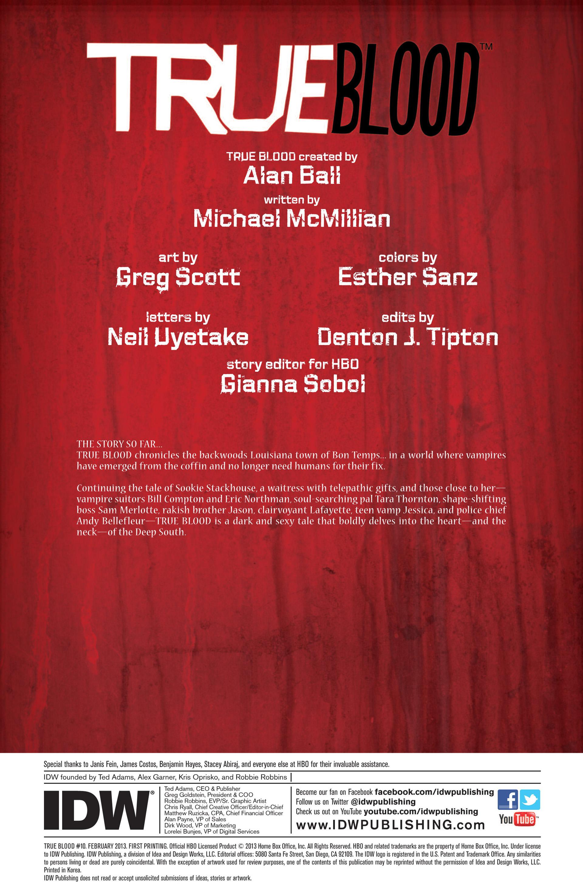 Read online True Blood (2012) comic -  Issue #10 - 2