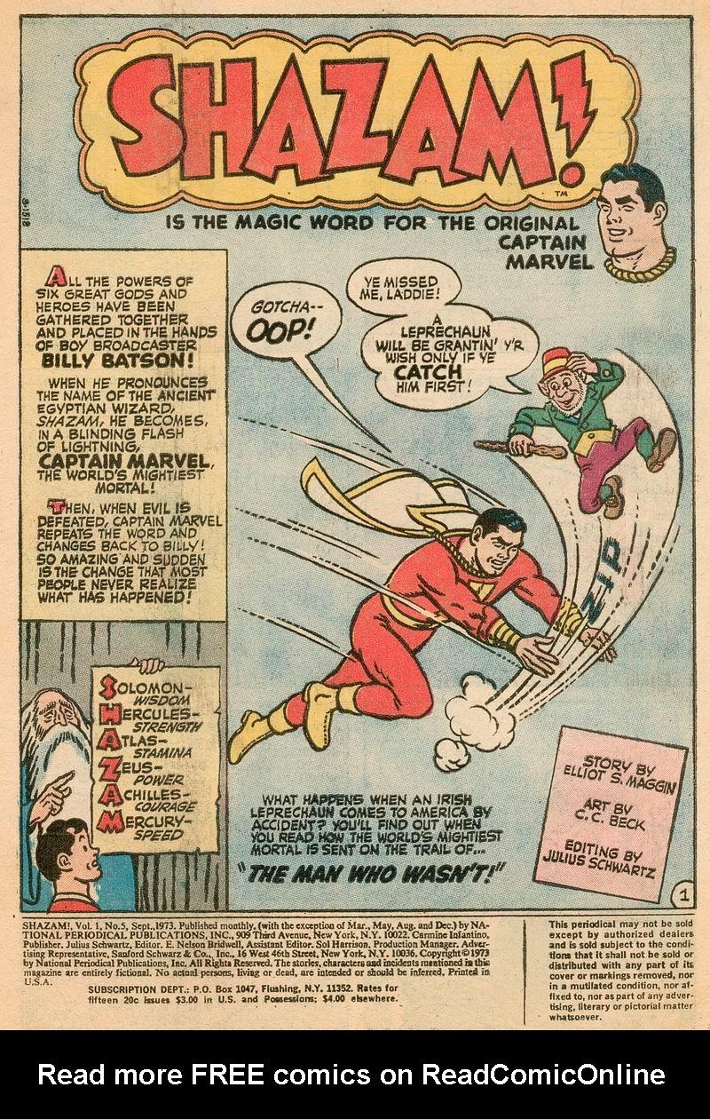 Read online Shazam! (1973) comic -  Issue #5 - 2