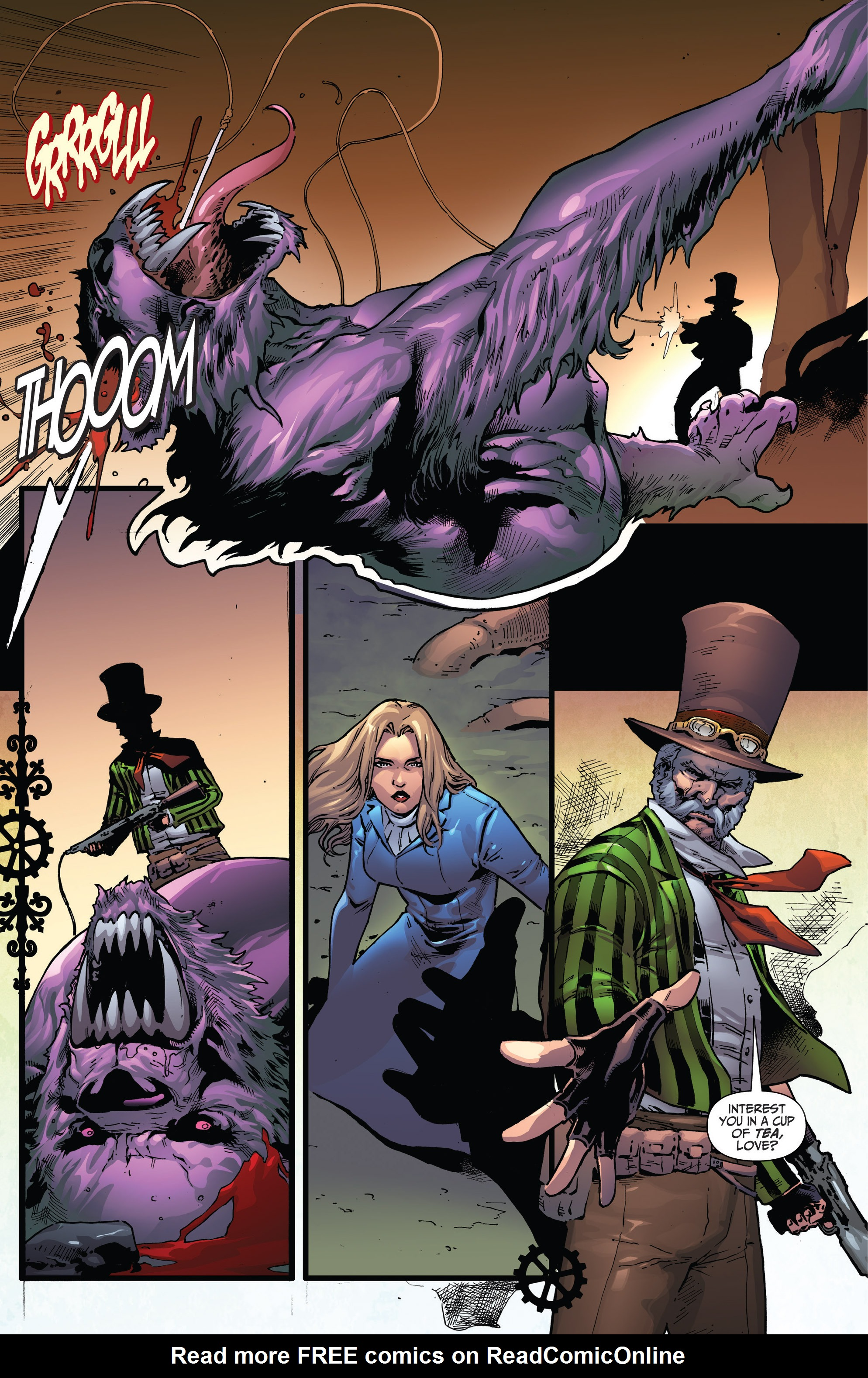 Read online Steampunk: Alice in Wonderland comic -  Issue # Full - 18