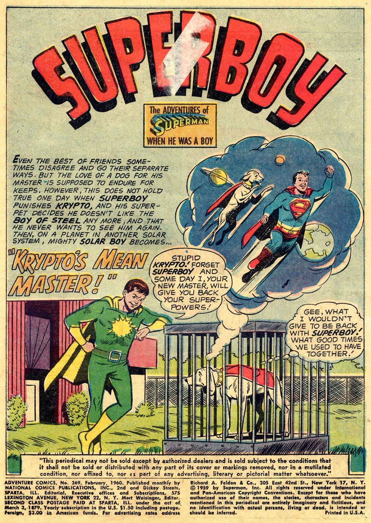 Read online Adventure Comics (1938) comic -  Issue #269 - 3