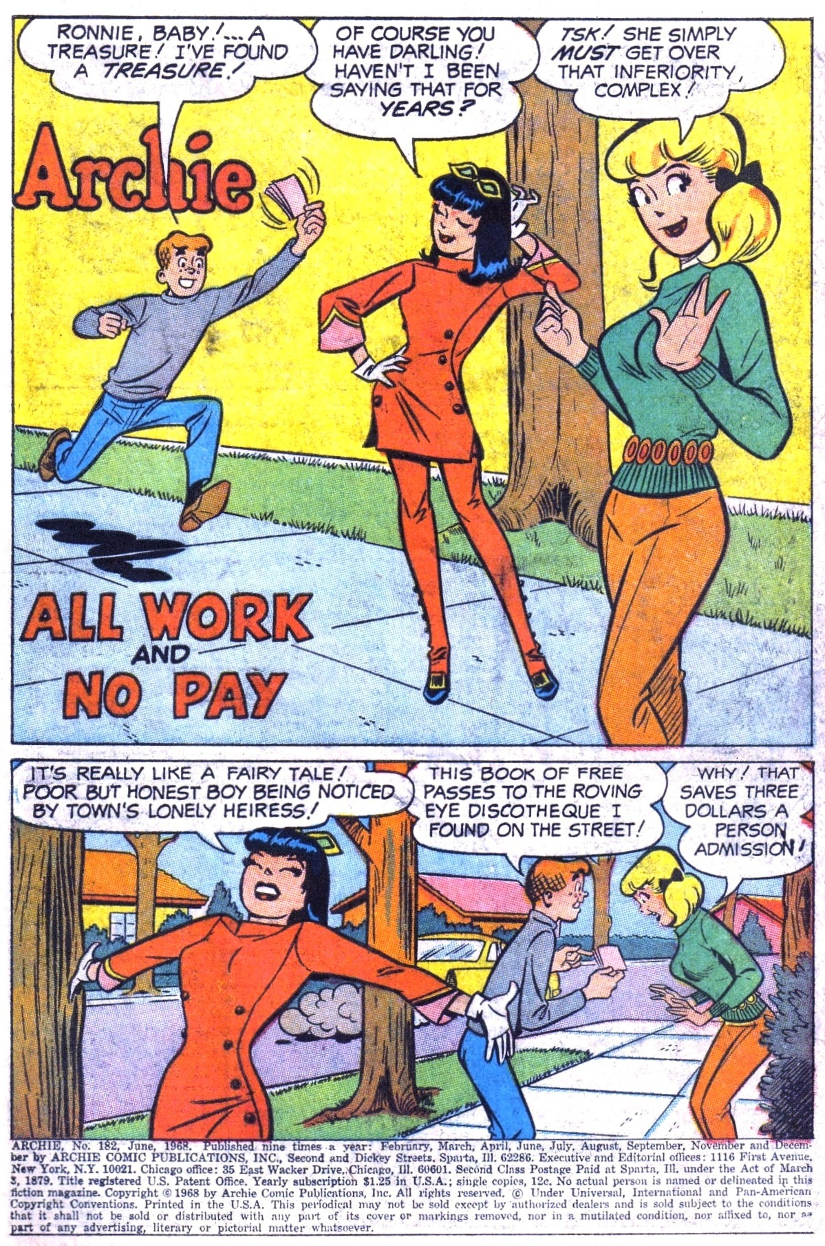 Read online Archie (1960) comic -  Issue #182 - 3