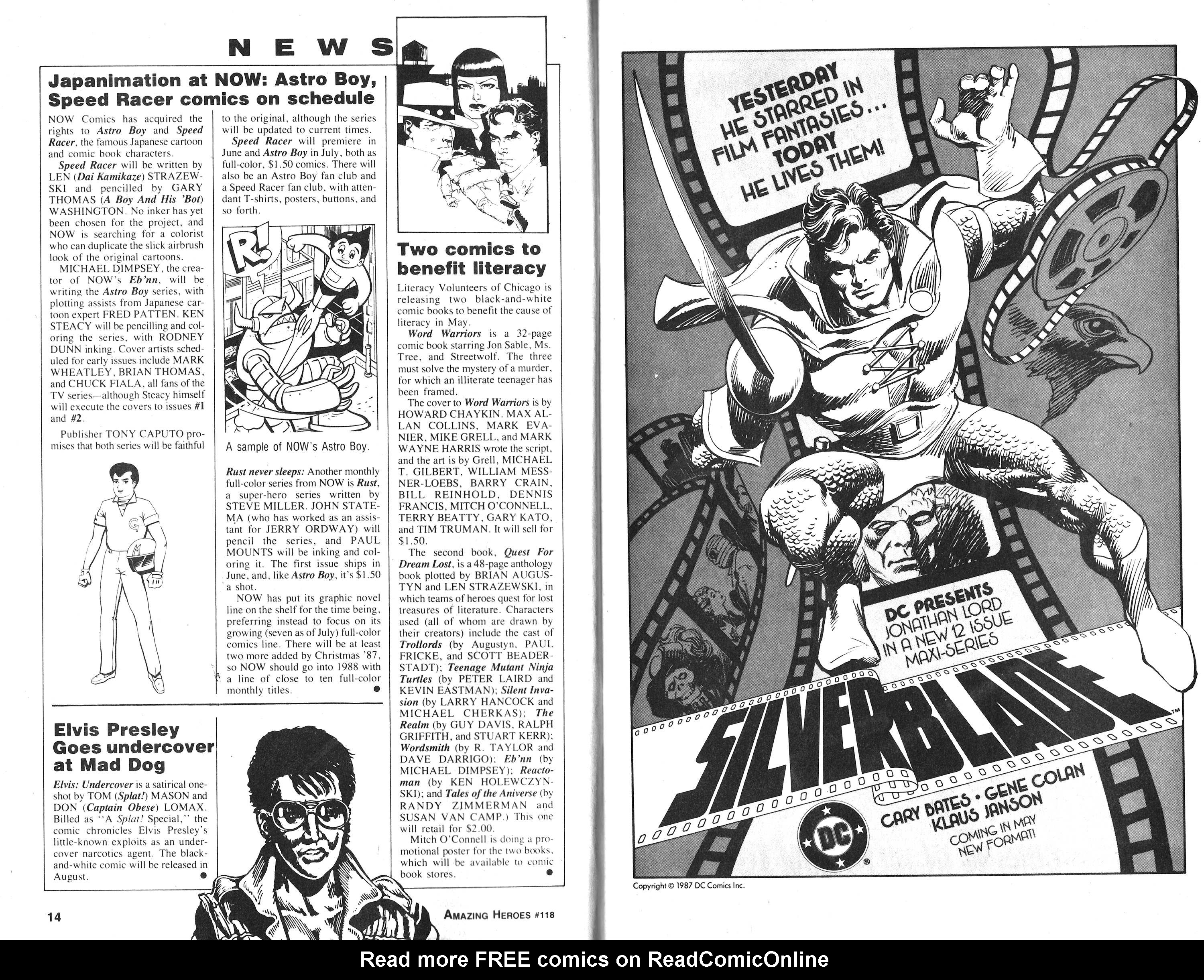 Read online Amazing Heroes comic -  Issue #118 - 8