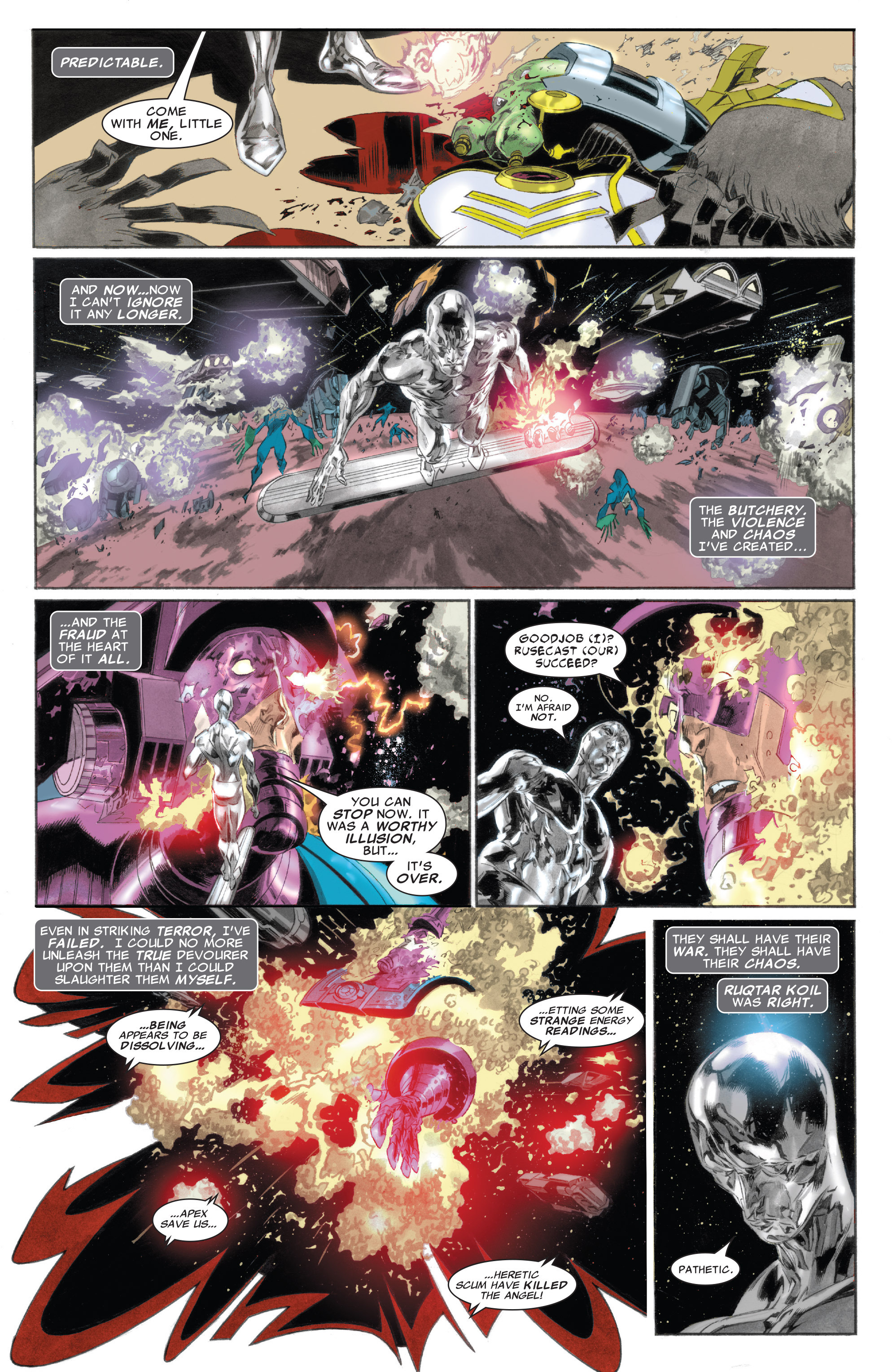 Read online Silver Surfer: In Thy Name comic -  Issue #4 - 21