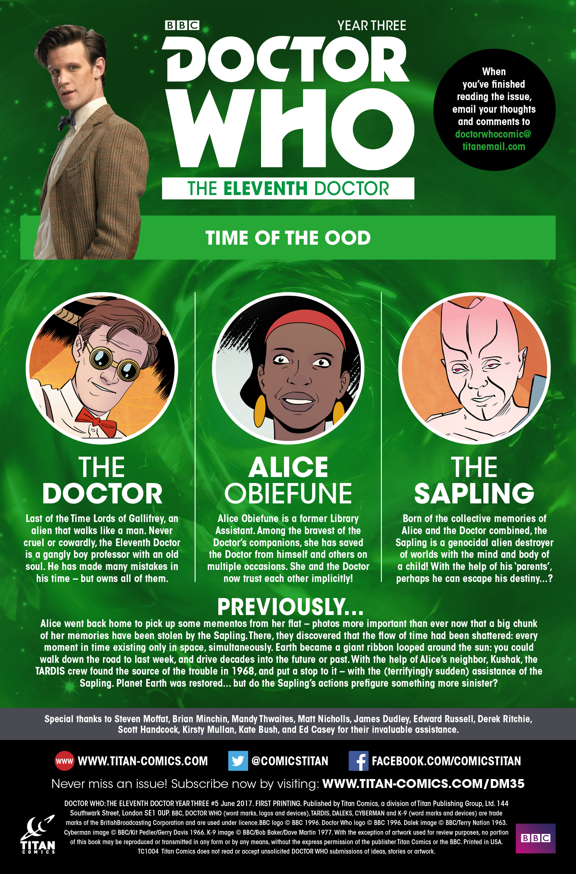 Read online Doctor Who: The Eleventh Doctor Year Three comic -  Issue #5 - 5