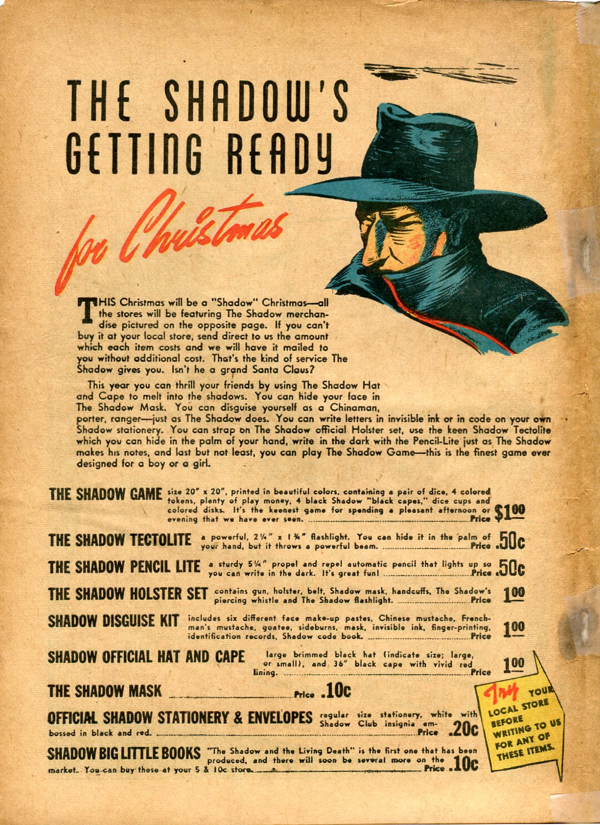 Read online Shadow Comics comic -  Issue #8 - 66