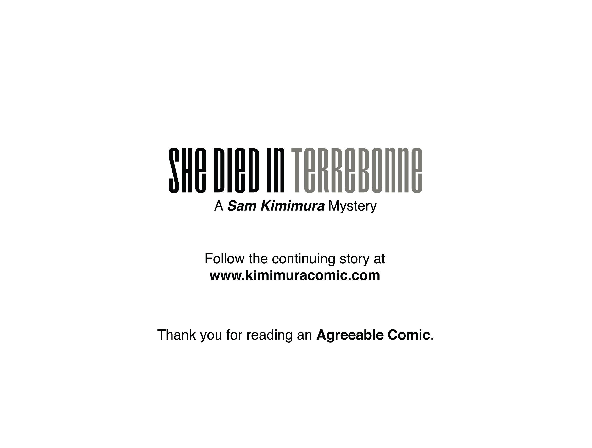 Read online She Died In Terrebonne comic -  Issue #1 - 23