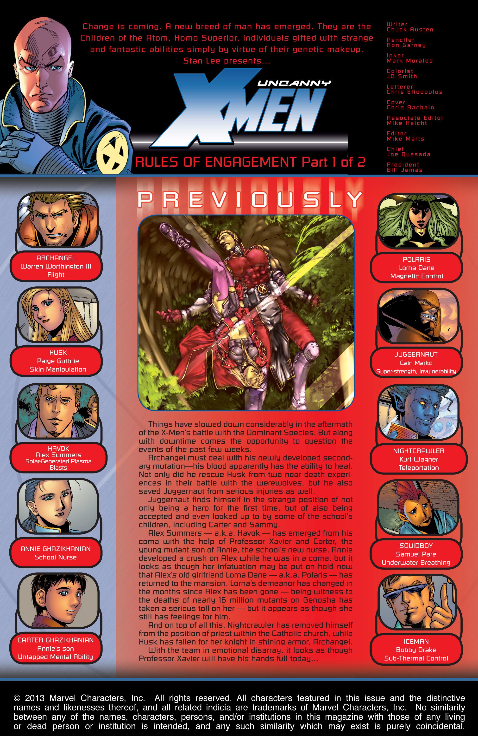 Read online Uncanny X-Men (1963) comic -  Issue #421 - 2